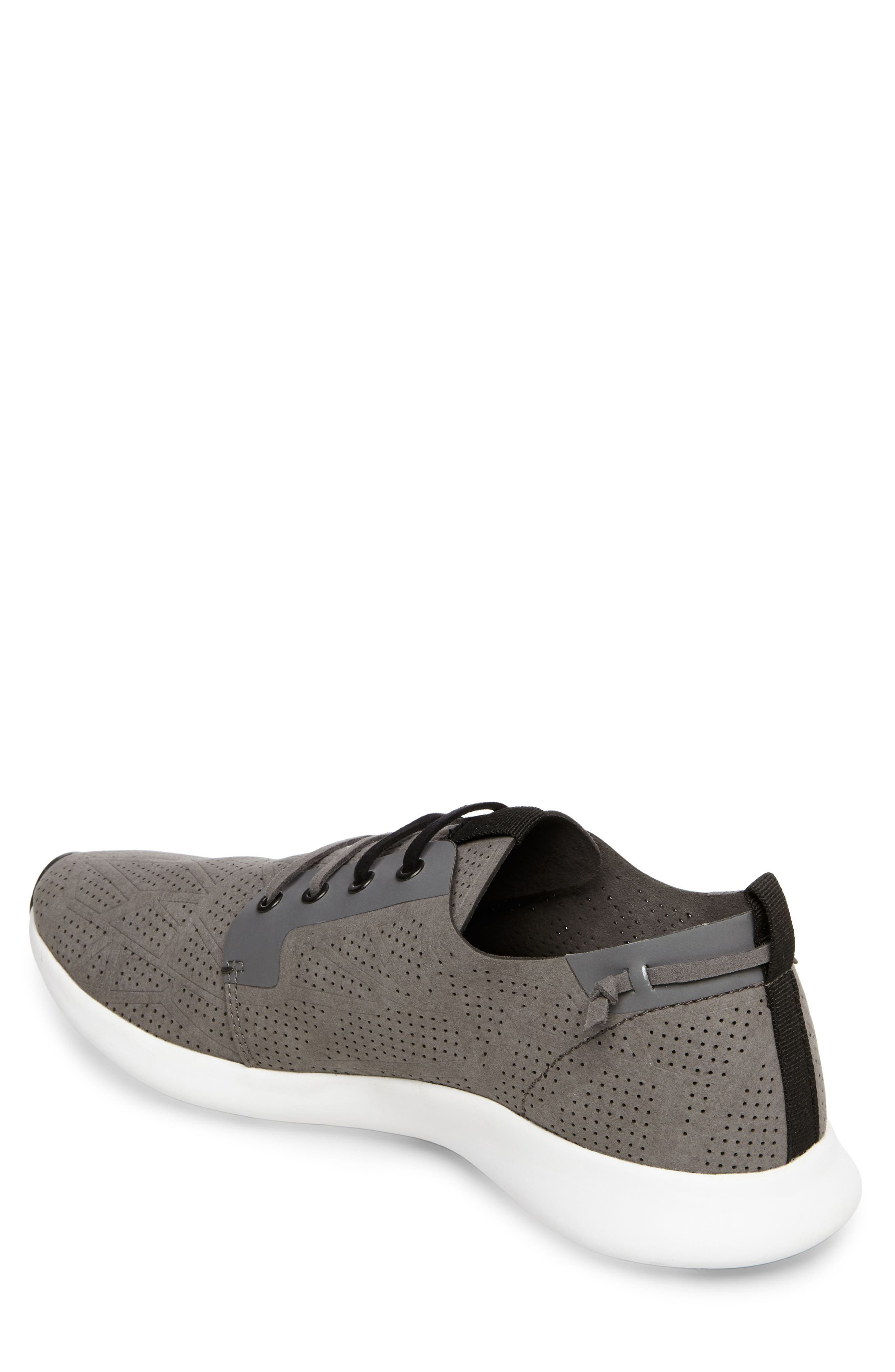 Batali Perforated Sneaker,                             Alternate thumbnail 2, color,                             Grey