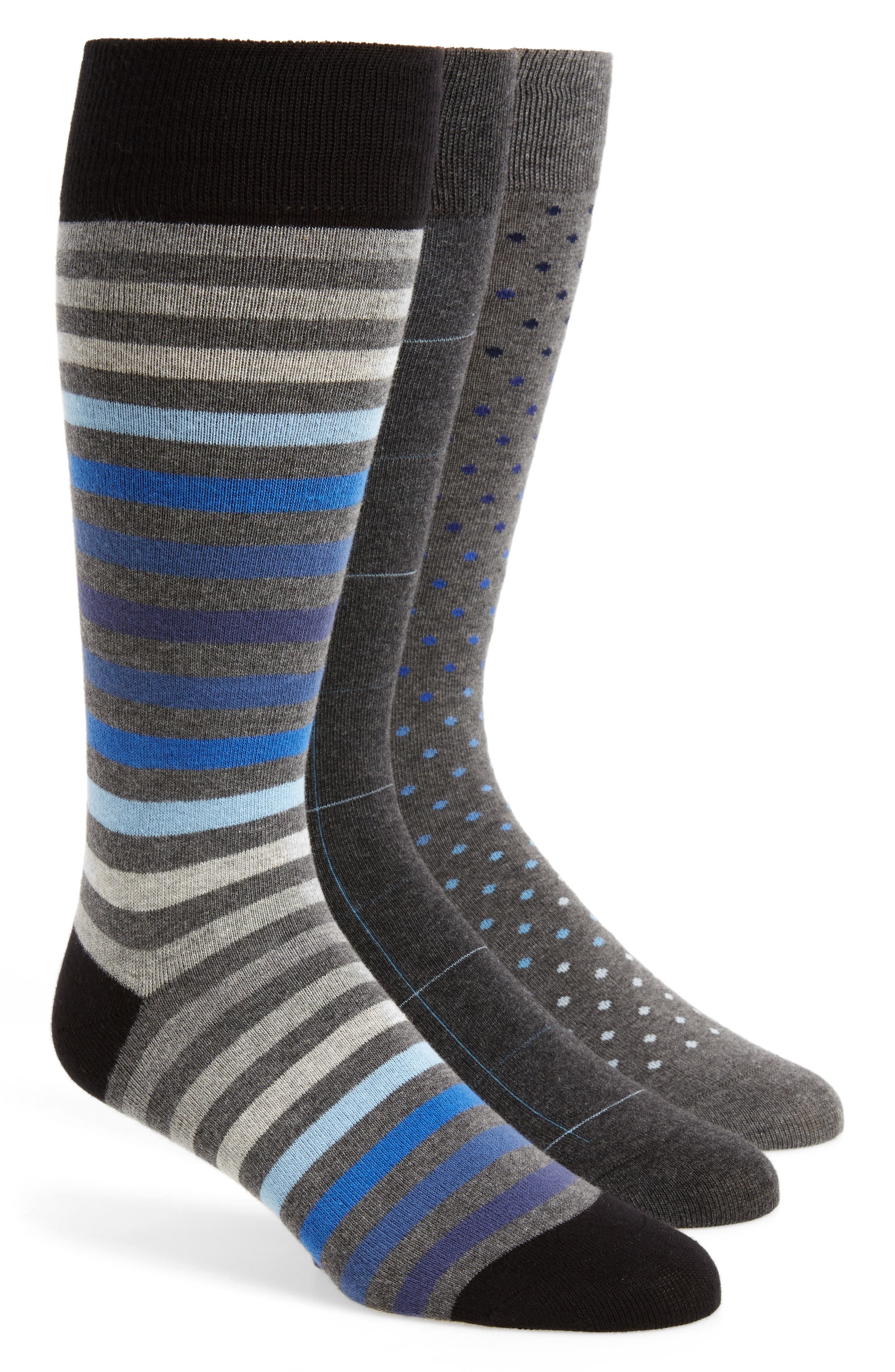 Calibrate 3-Pack Mixed Pattern Socks