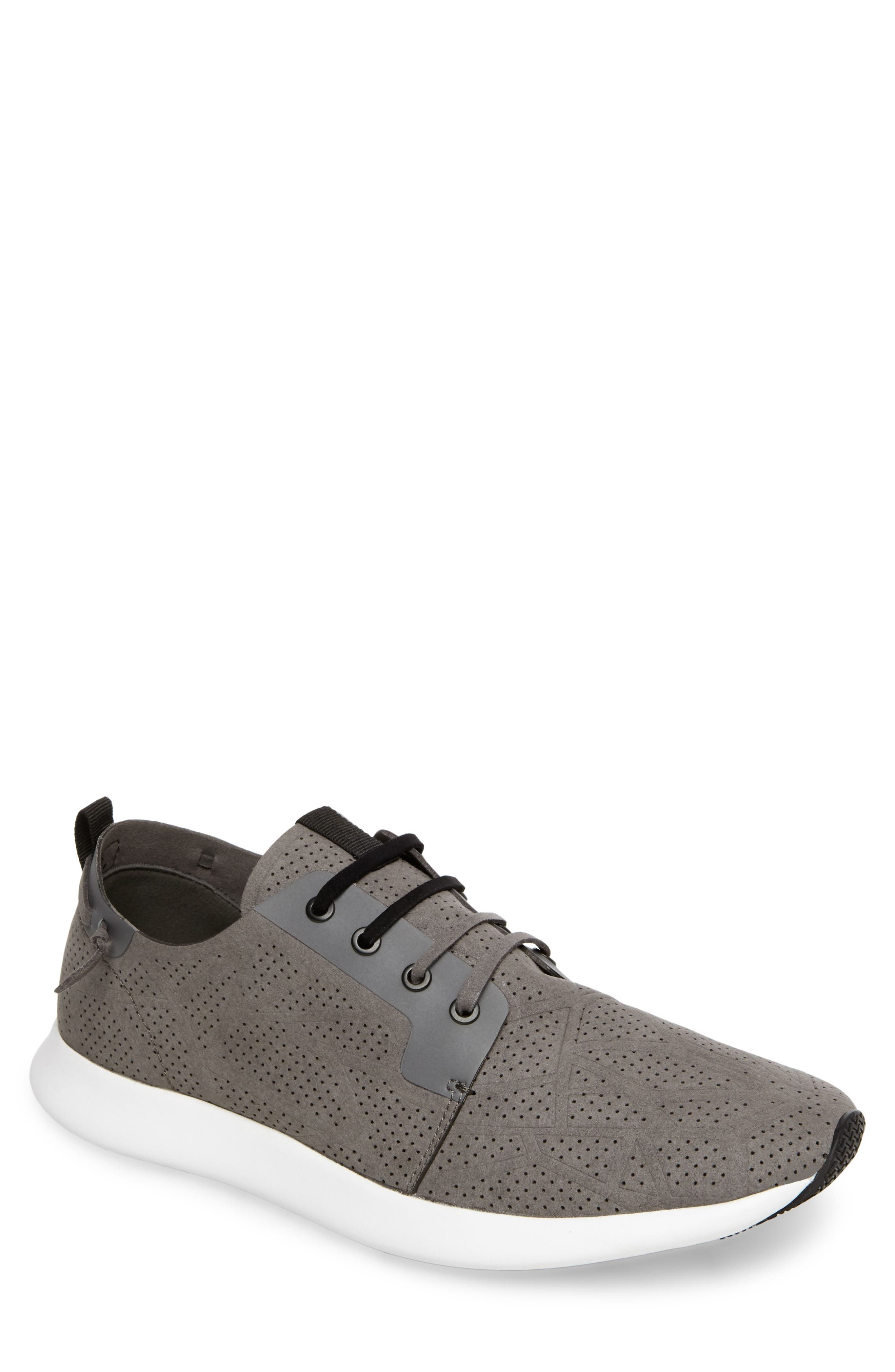 Batali Perforated Sneaker,                         Main,                         color, Grey