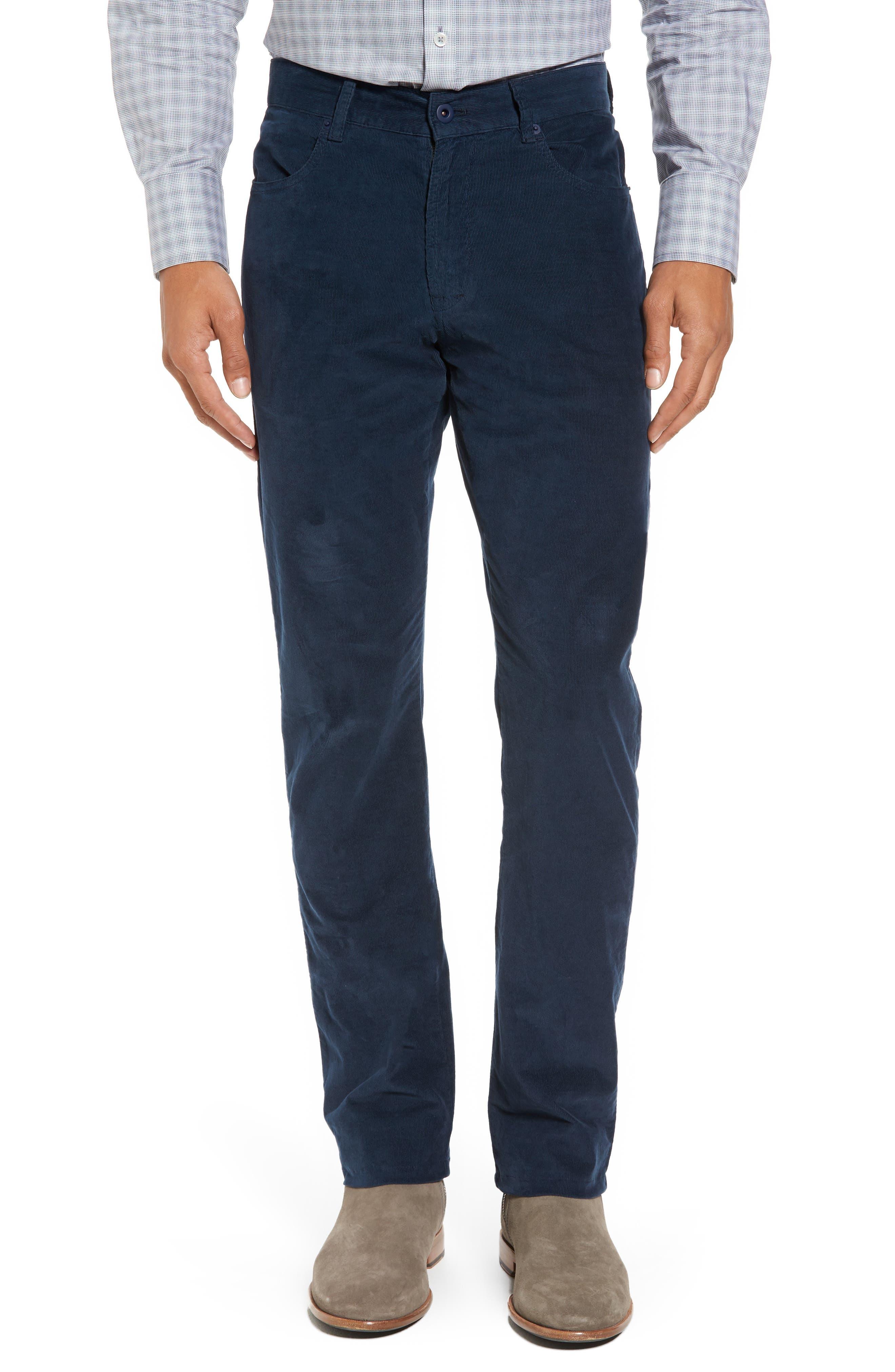 Redonda Stretch Corduroy Trousers,                         Main,                         color, Midnight