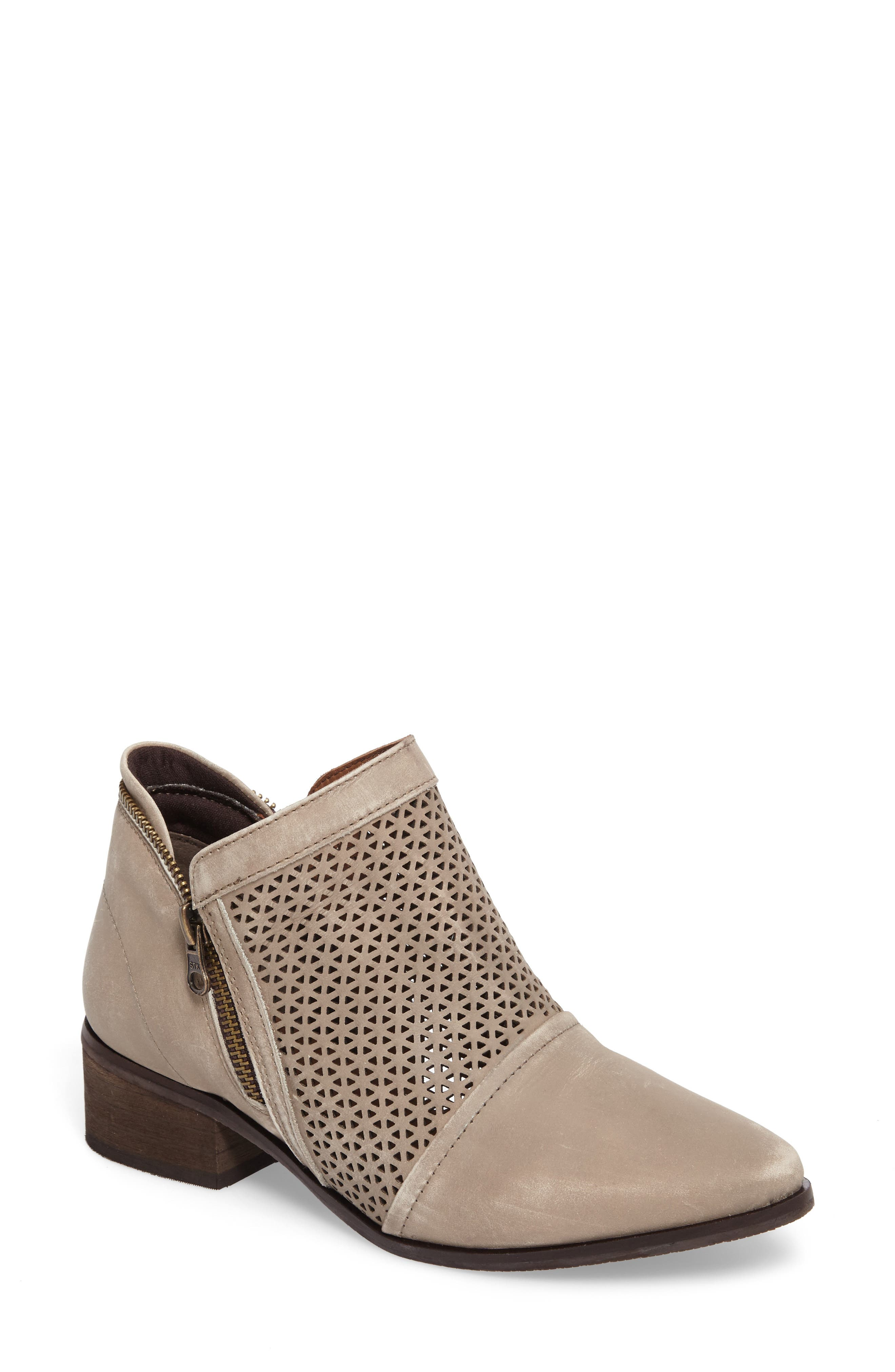Zayna Bootie,                         Main,                         color, Taupe Suede