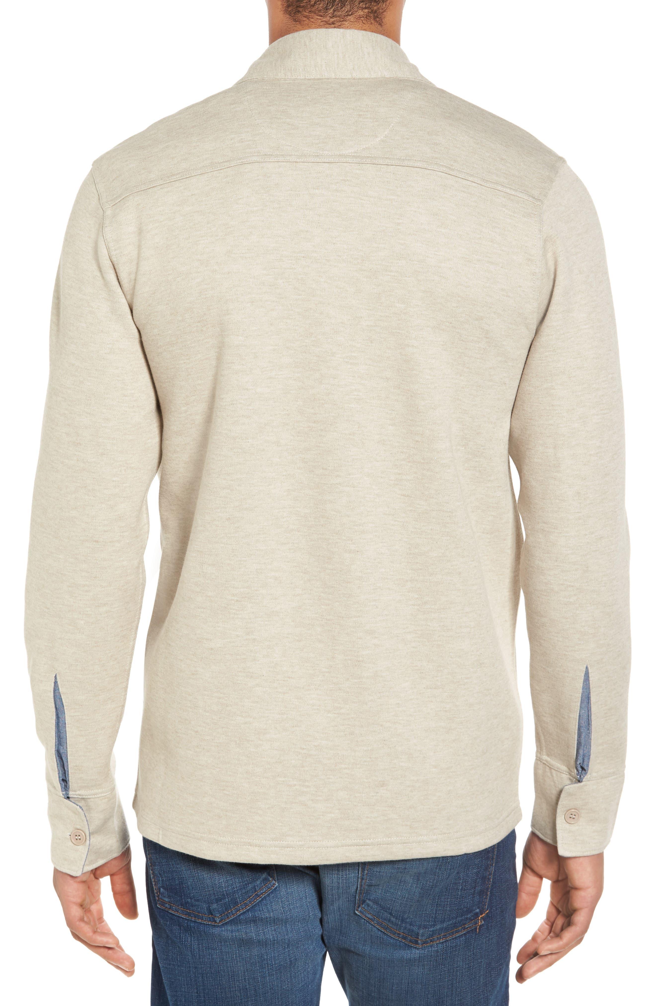 'Longitude' Flap Pocket Fleece Shirt,                             Alternate thumbnail 2, color,                             Bamboo Ivory