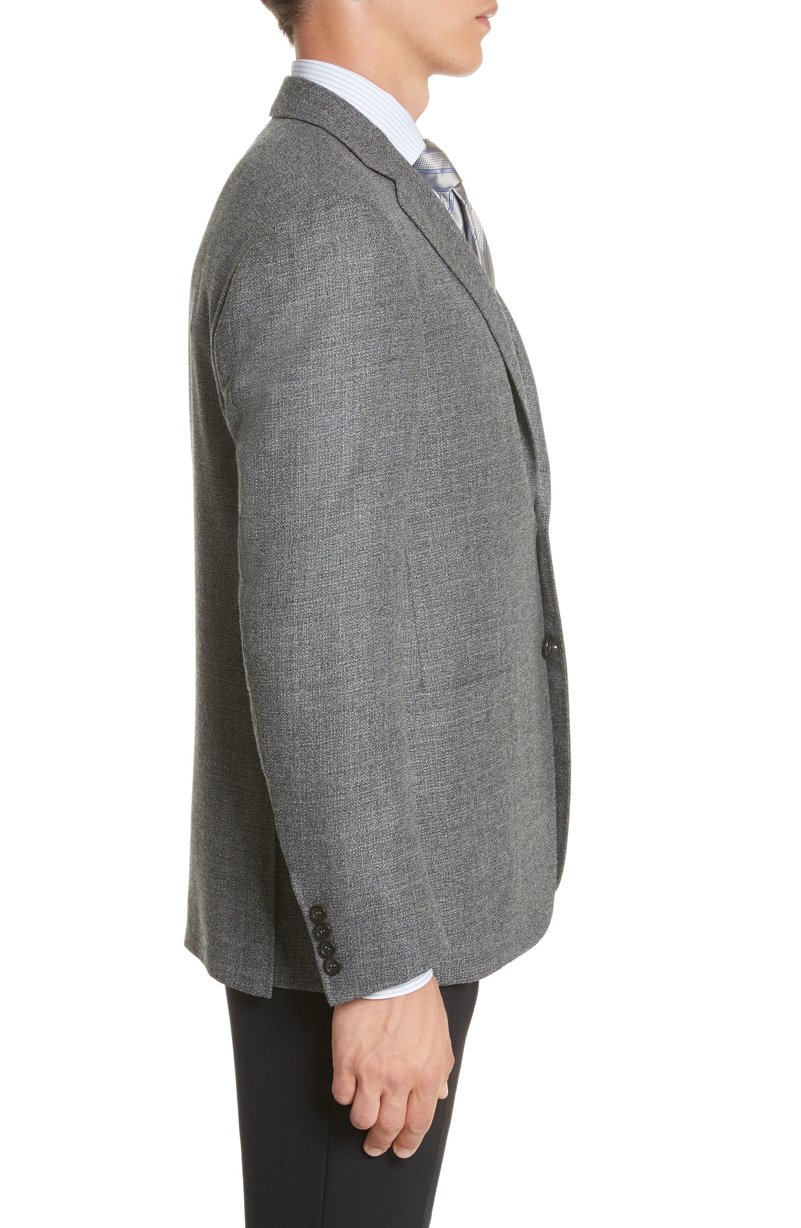 Kei Classic Fit Wool Blazer,                             Alternate thumbnail 3, color,                             Grey