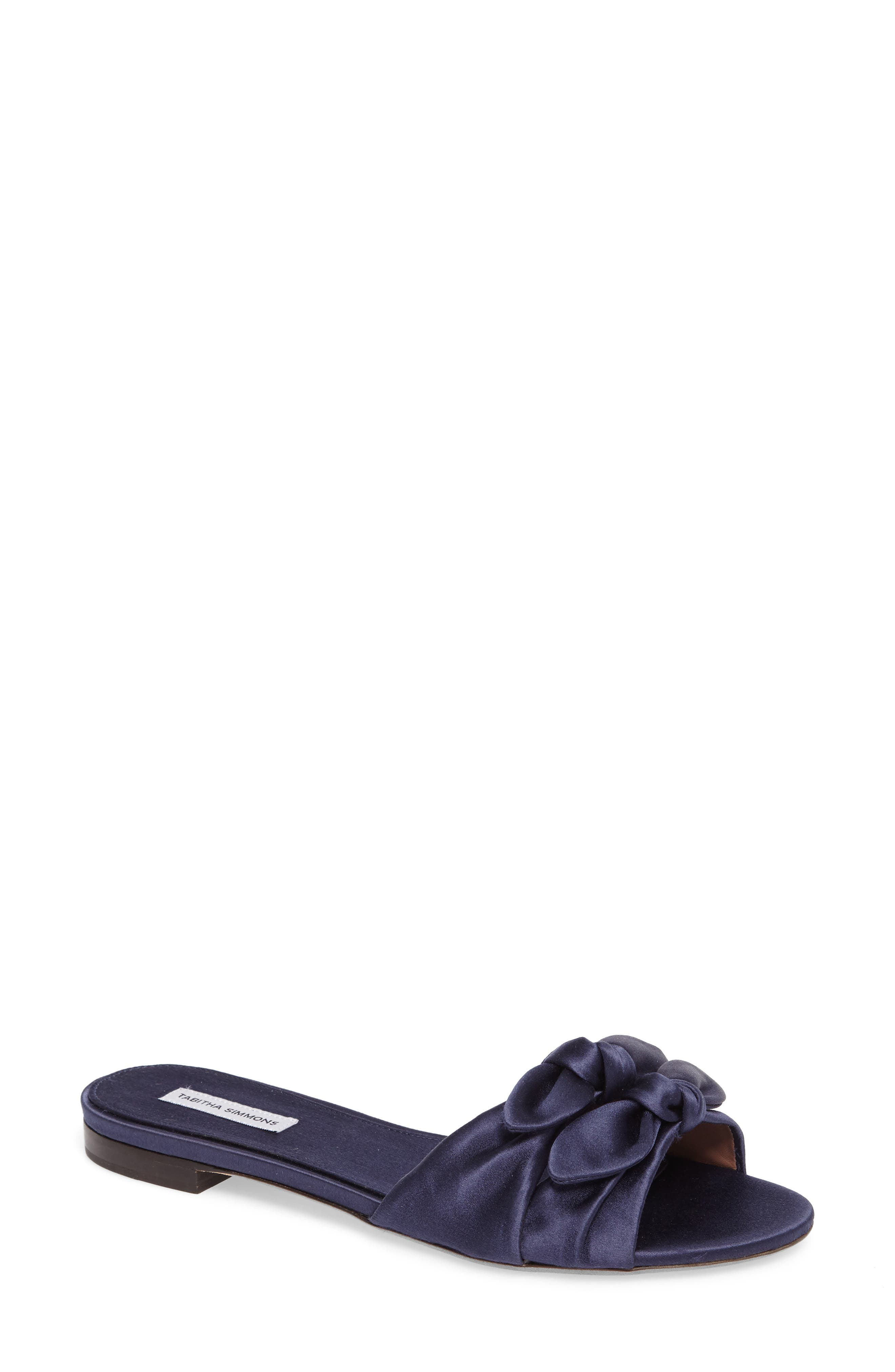 Main Image - Tabitha Simmons Cleo Knotted Bow Slide Sandal (Women)