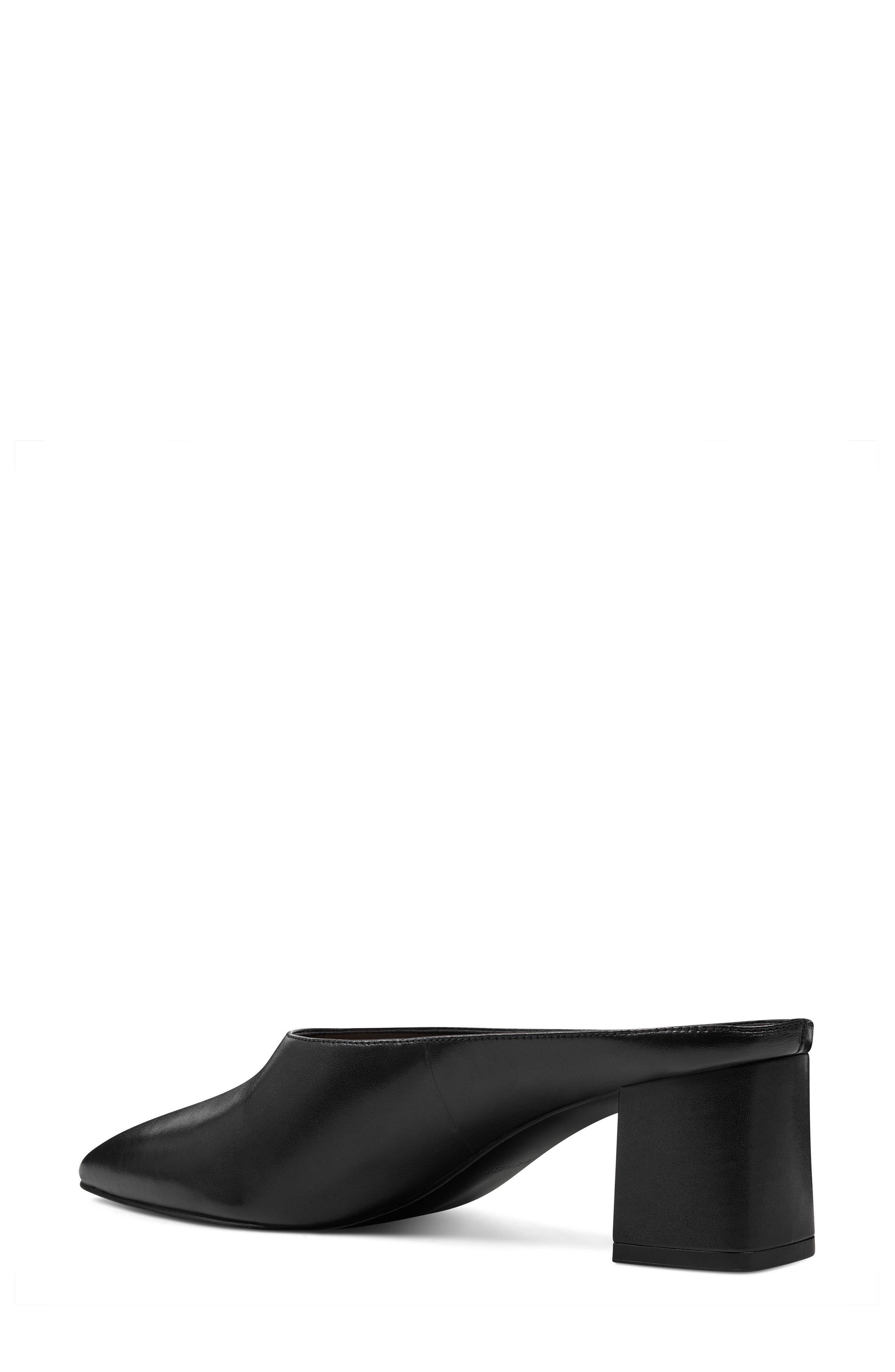 Helmer Mule,                             Alternate thumbnail 2, color,                             Black Leather