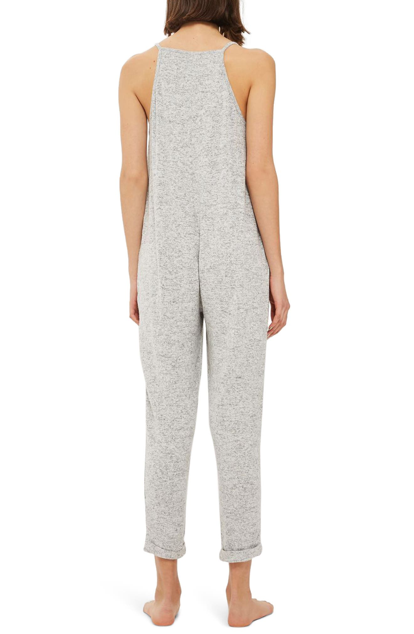 Supersoft Lounge Jumpsuit,                             Alternate thumbnail 2, color,                             Grey Marl
