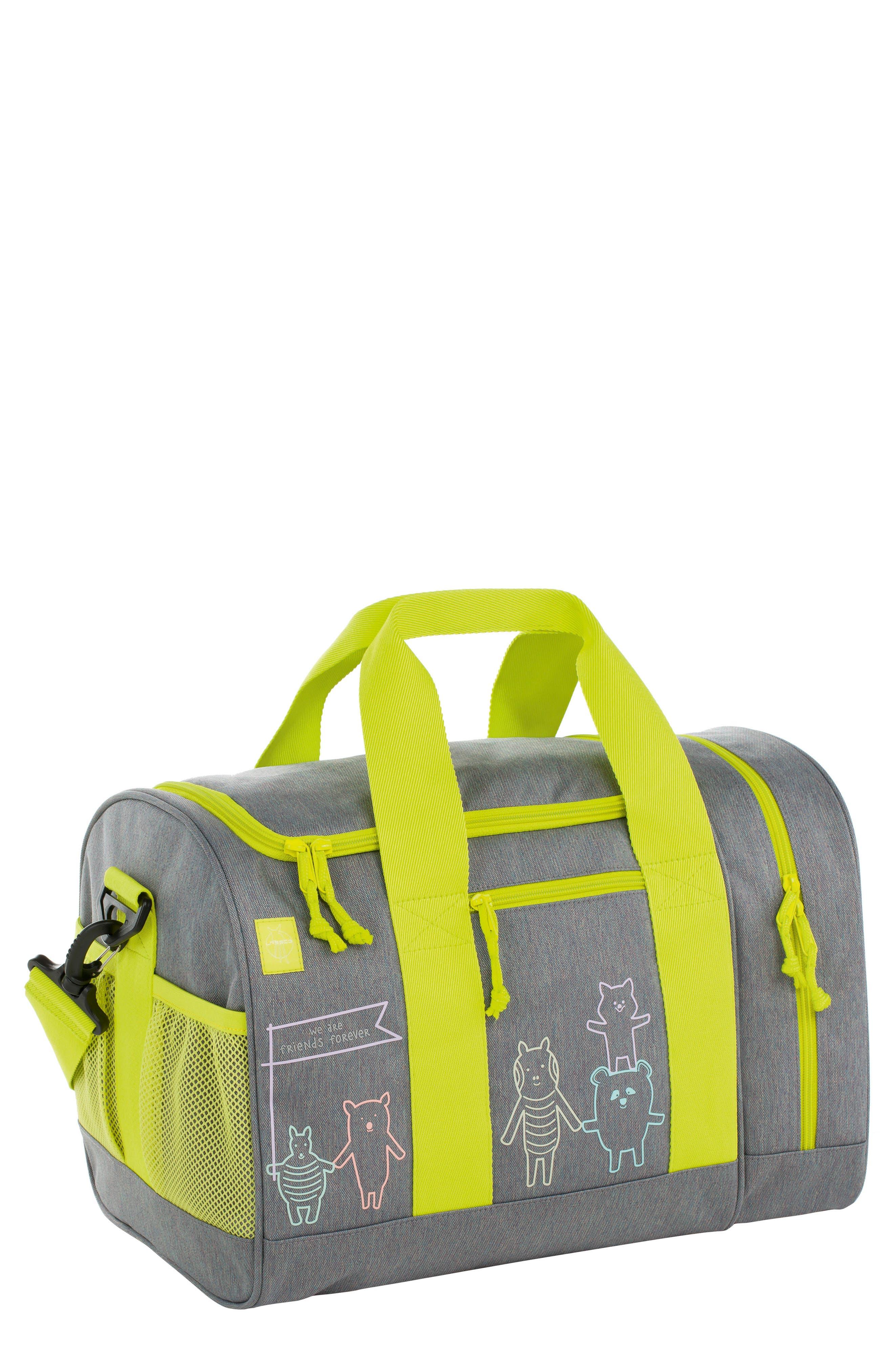 Mini About Friends Duffel Bag,                         Main,                         color, Melange Grey