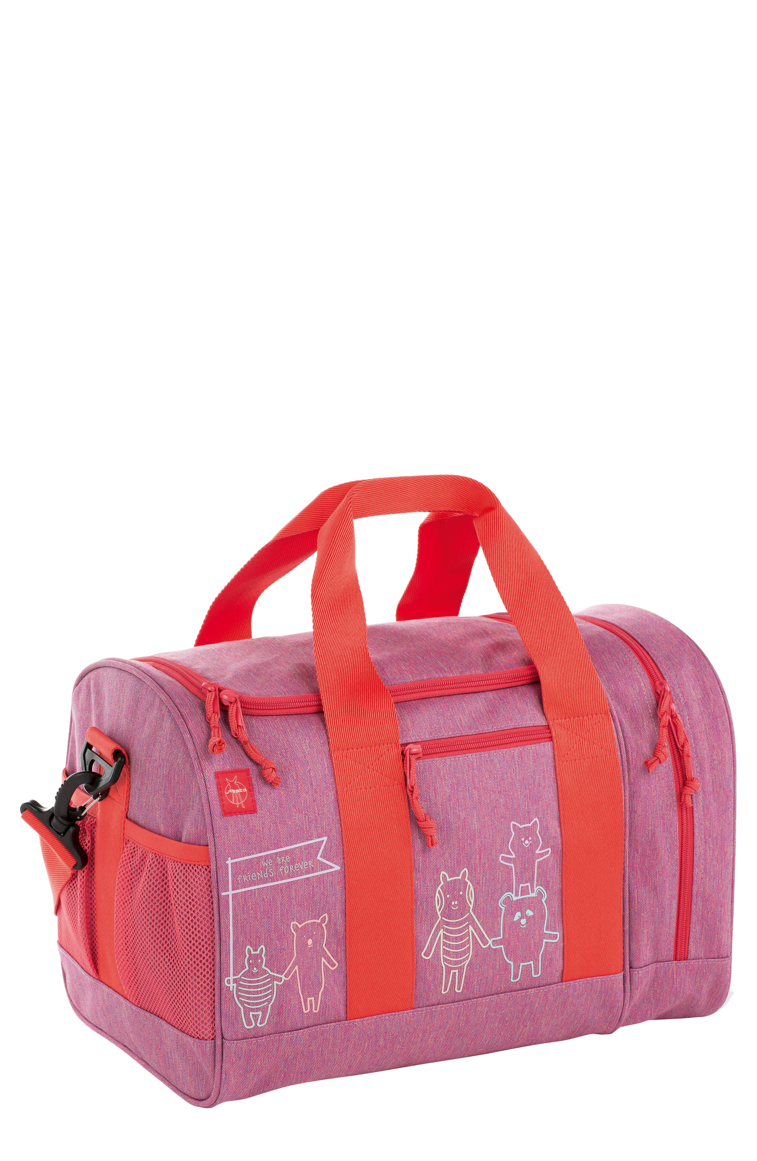 Mini About Friends Duffel Bag,                             Main thumbnail 1, color,                             Melange Pink