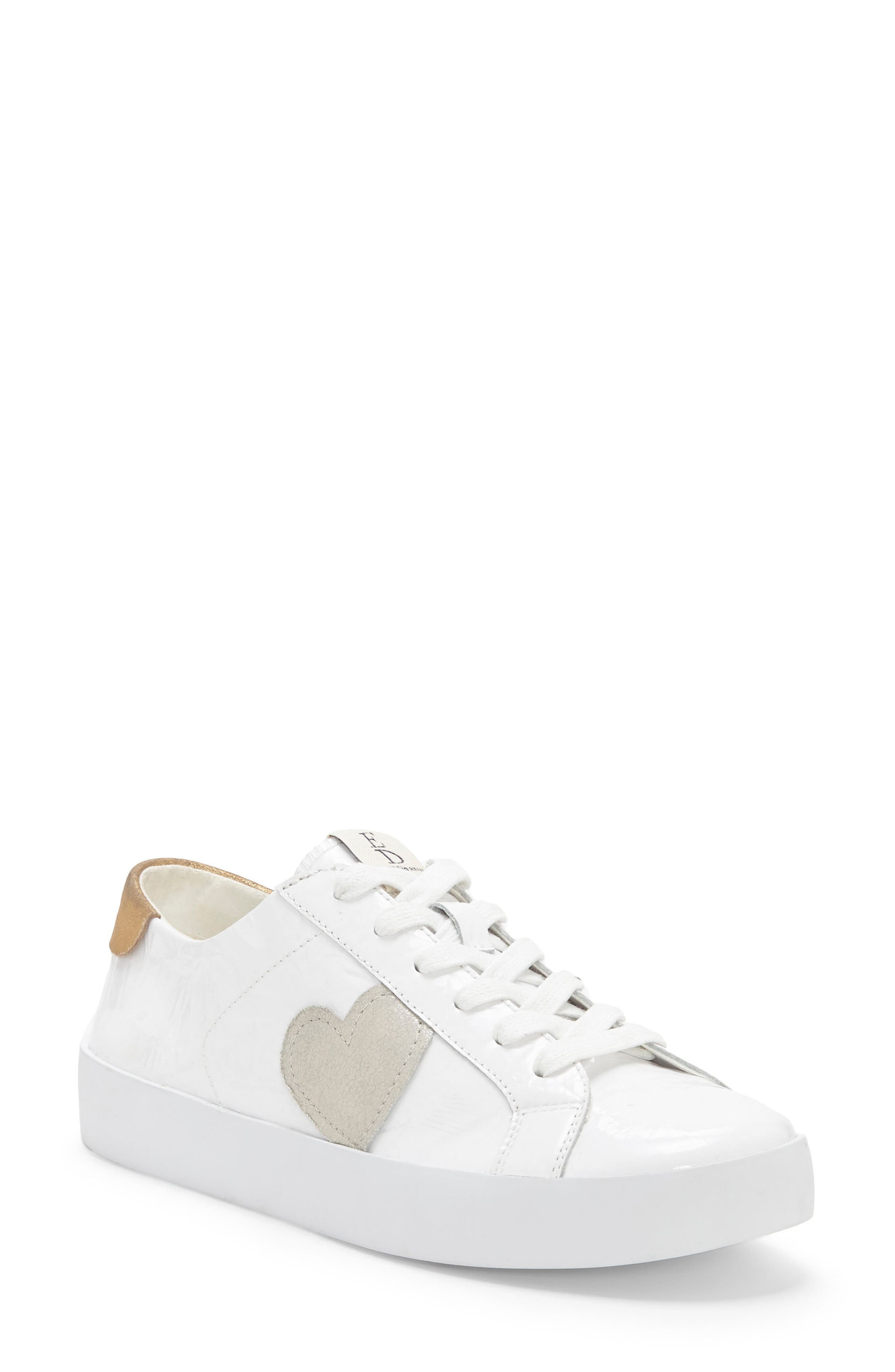 Gillen Sneaker,                             Main thumbnail 1, color,                             Pure White Crinkled Patent