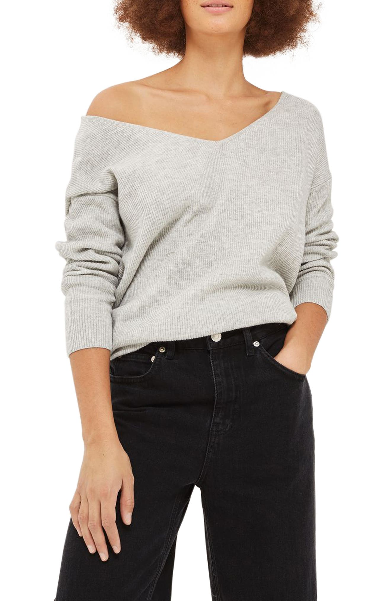 Topshop Twist Back Sweater