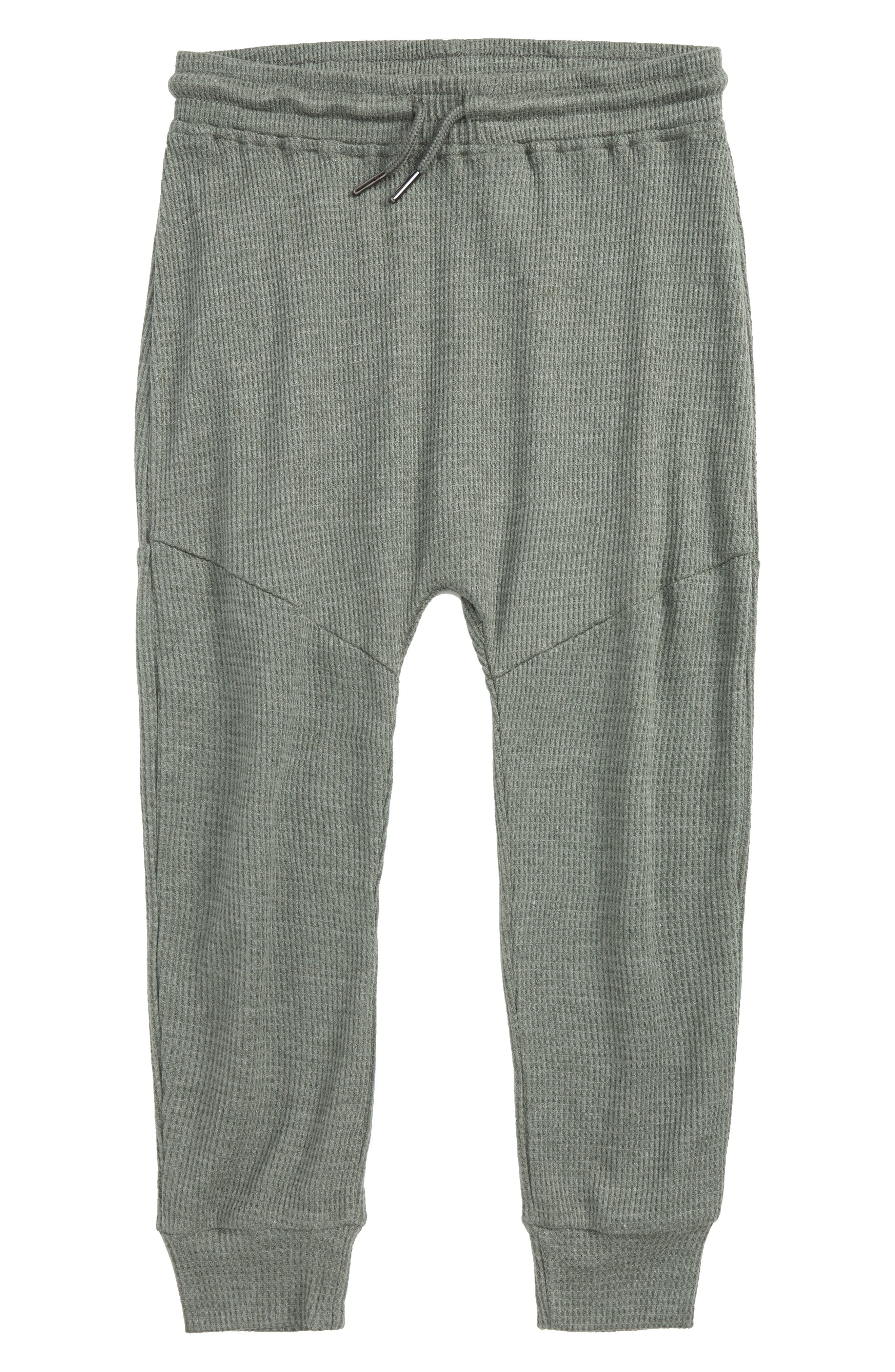 Jude Thermal Knit Jogger Pants,                         Main,                         color, Olive Heather