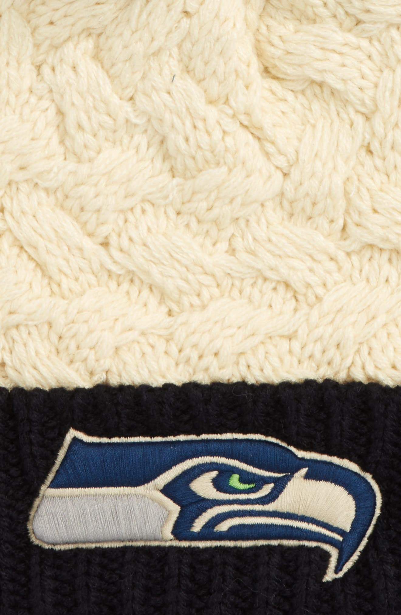 Matterhorn Seattle Seahawks Beanie,                             Alternate thumbnail 2, color,                             White