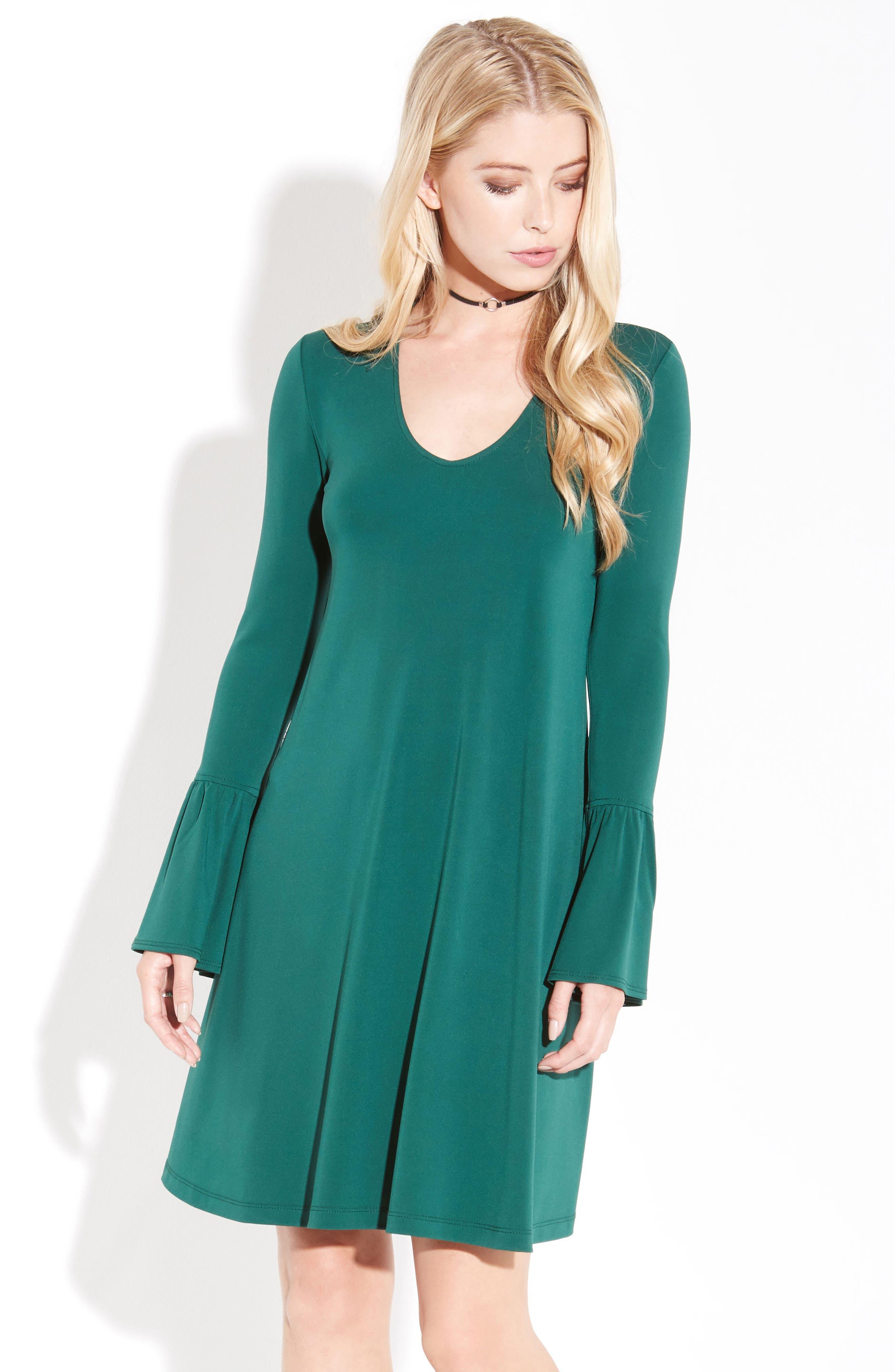 Alternate Image 2  - Karen Kane Bell Sleeve Dress
