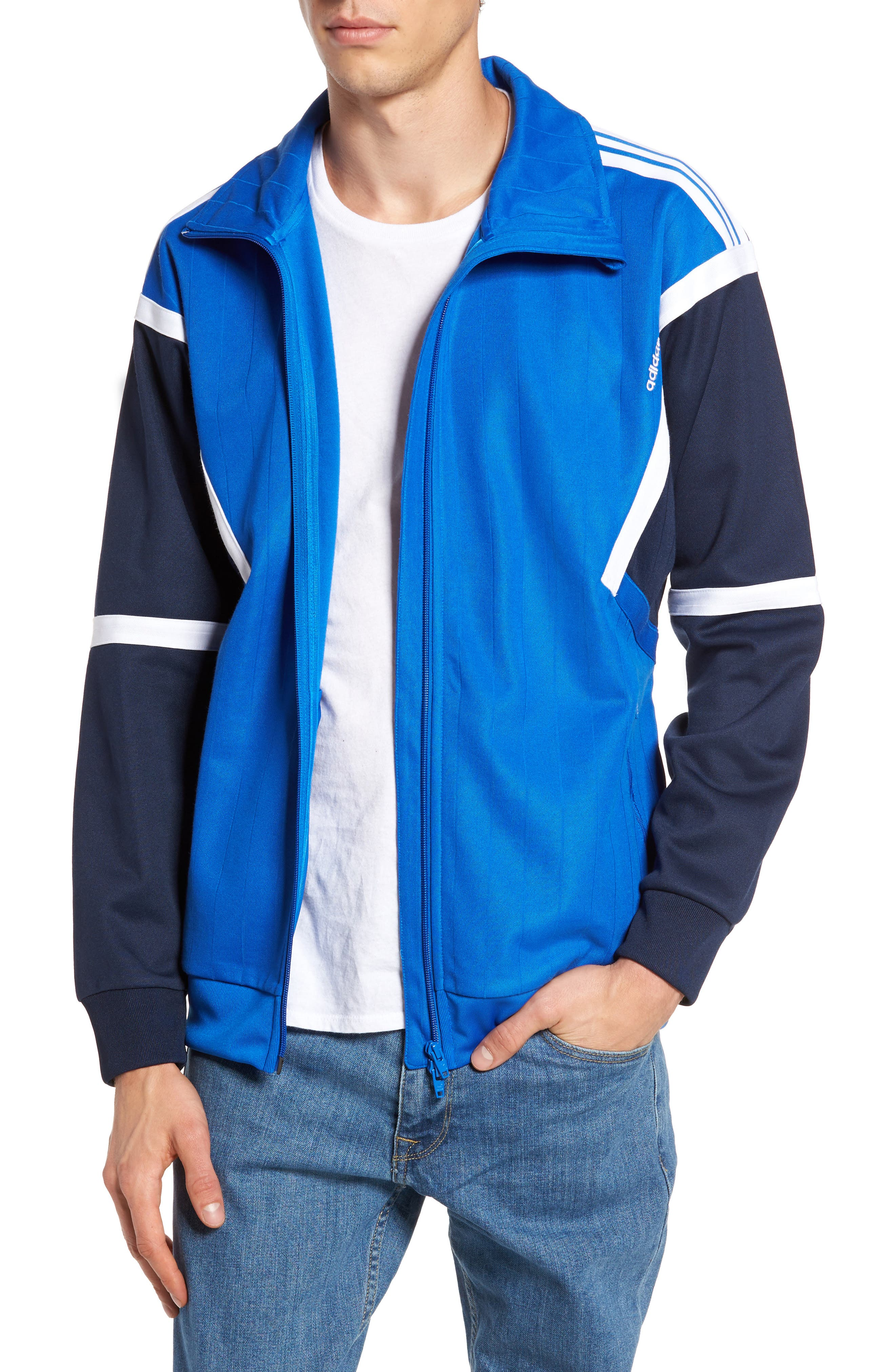 Water Resistant Training Track Jacket,                         Main,                         color, Blue