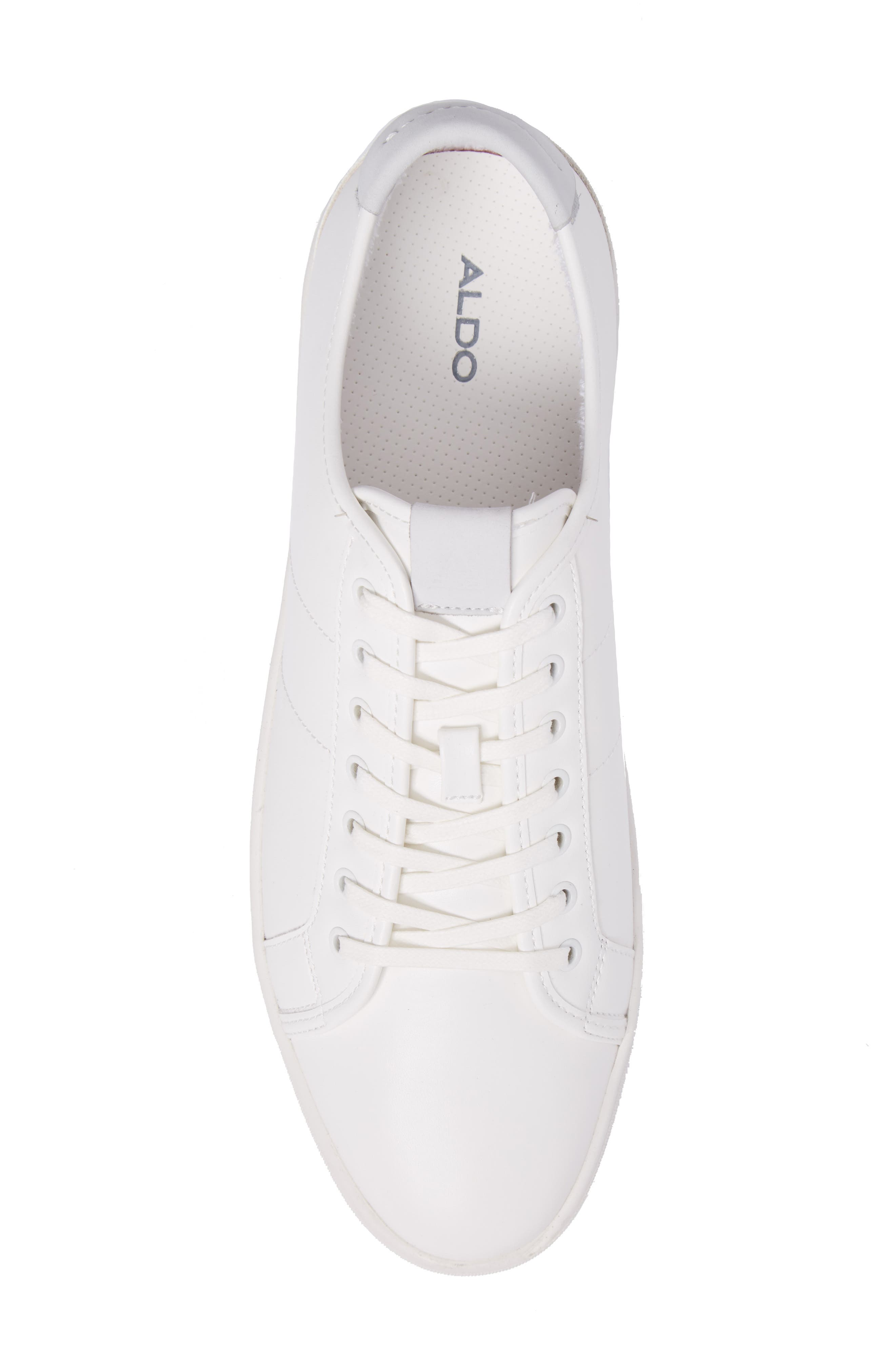 Delello Low-Top Sneaker,                             Alternate thumbnail 5, color,                             White