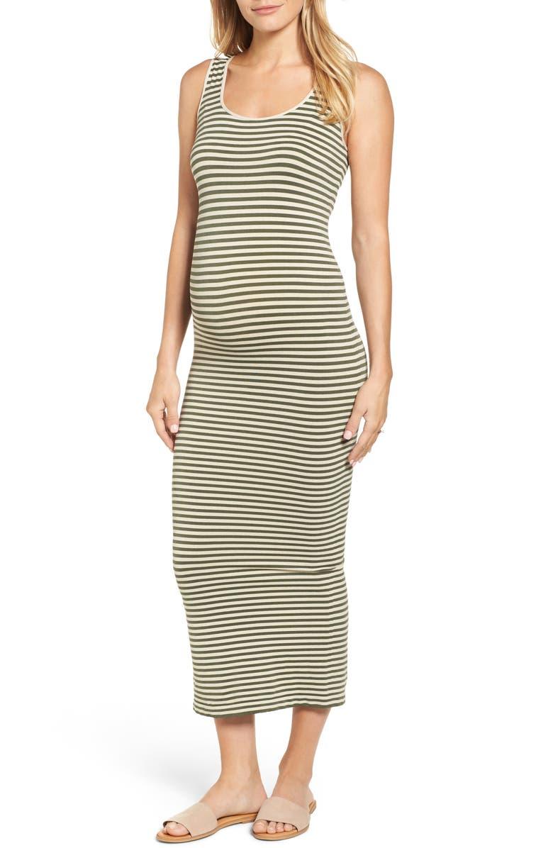 Micro Stripe Maternity Dress