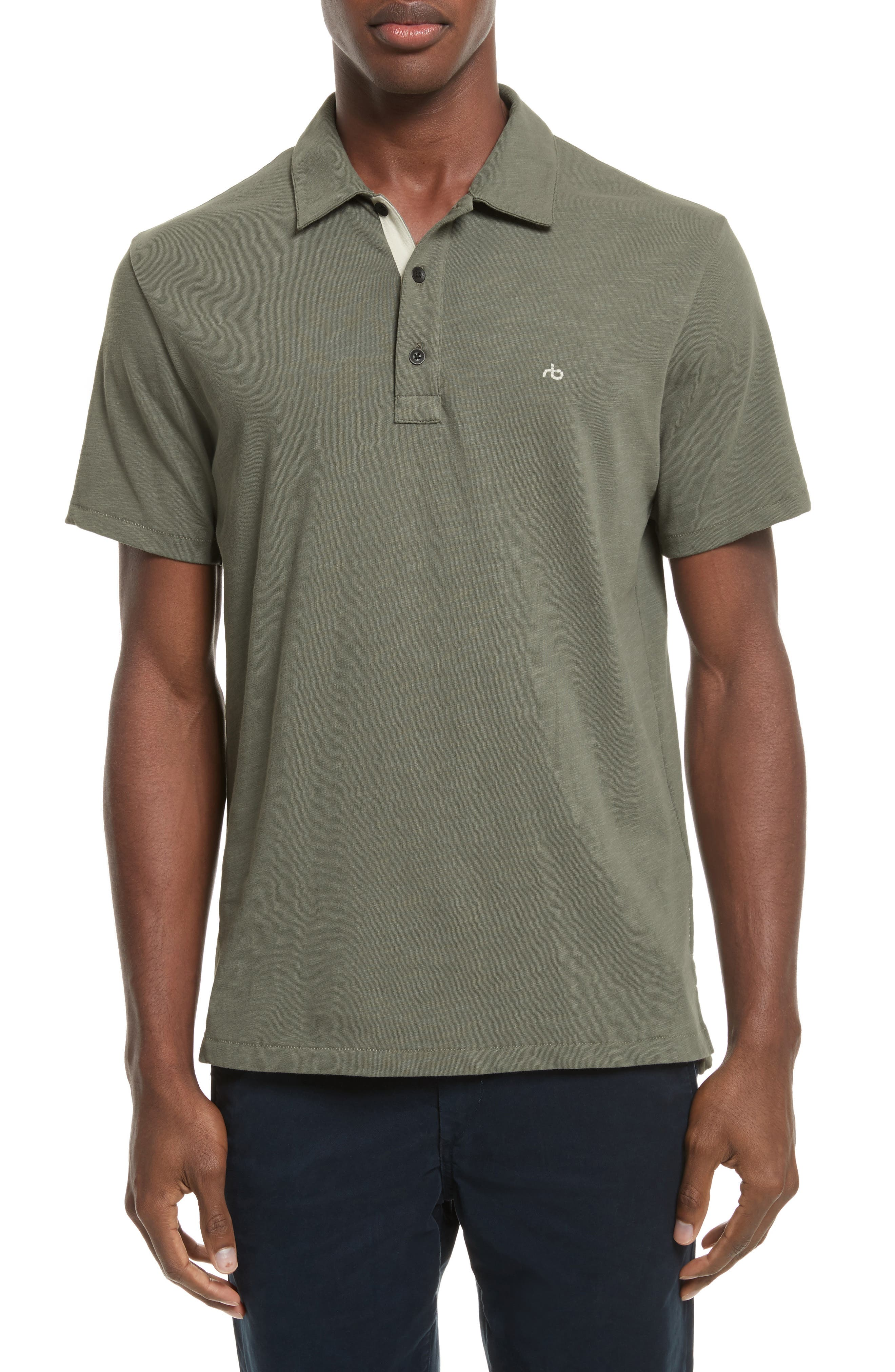 Main Image - rag & bone Standard Issue Slub Jersey Polo
