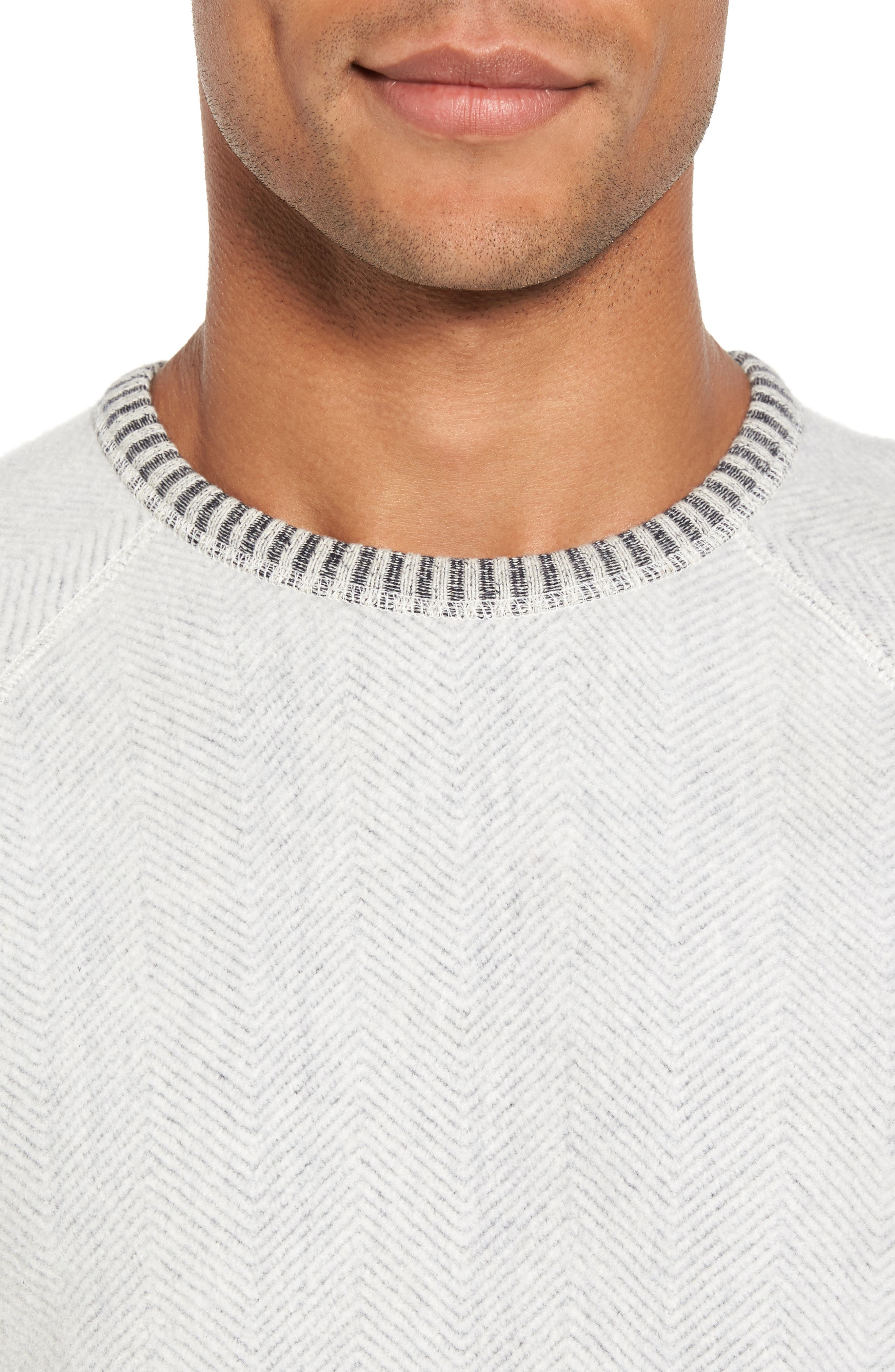 Alternate Image 4  - Nordstrom Men's Shop Brushed Fleece Sweatshirt