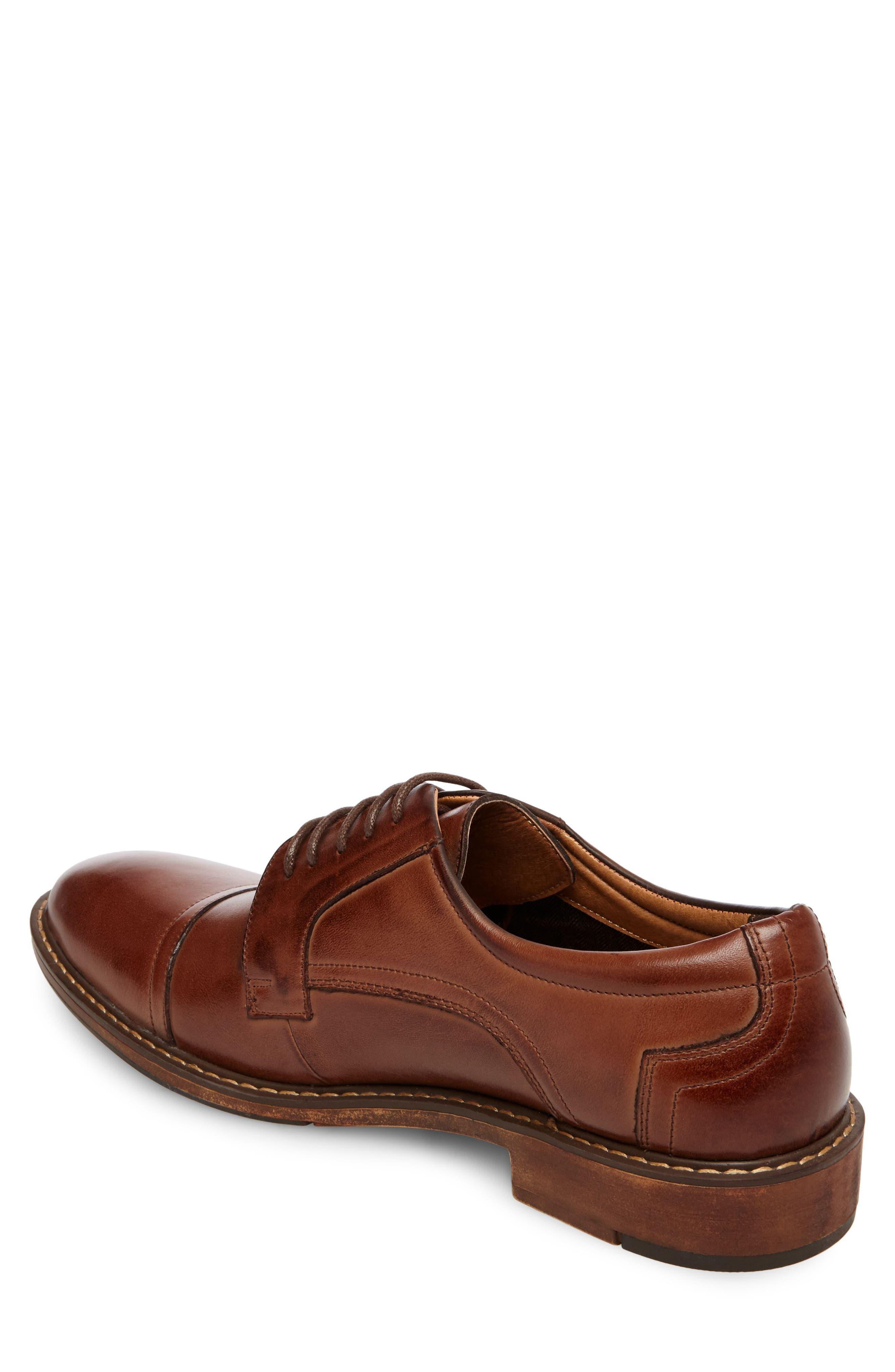 Averie Cap Toe Derby,                             Alternate thumbnail 2, color,                             Tan Leather