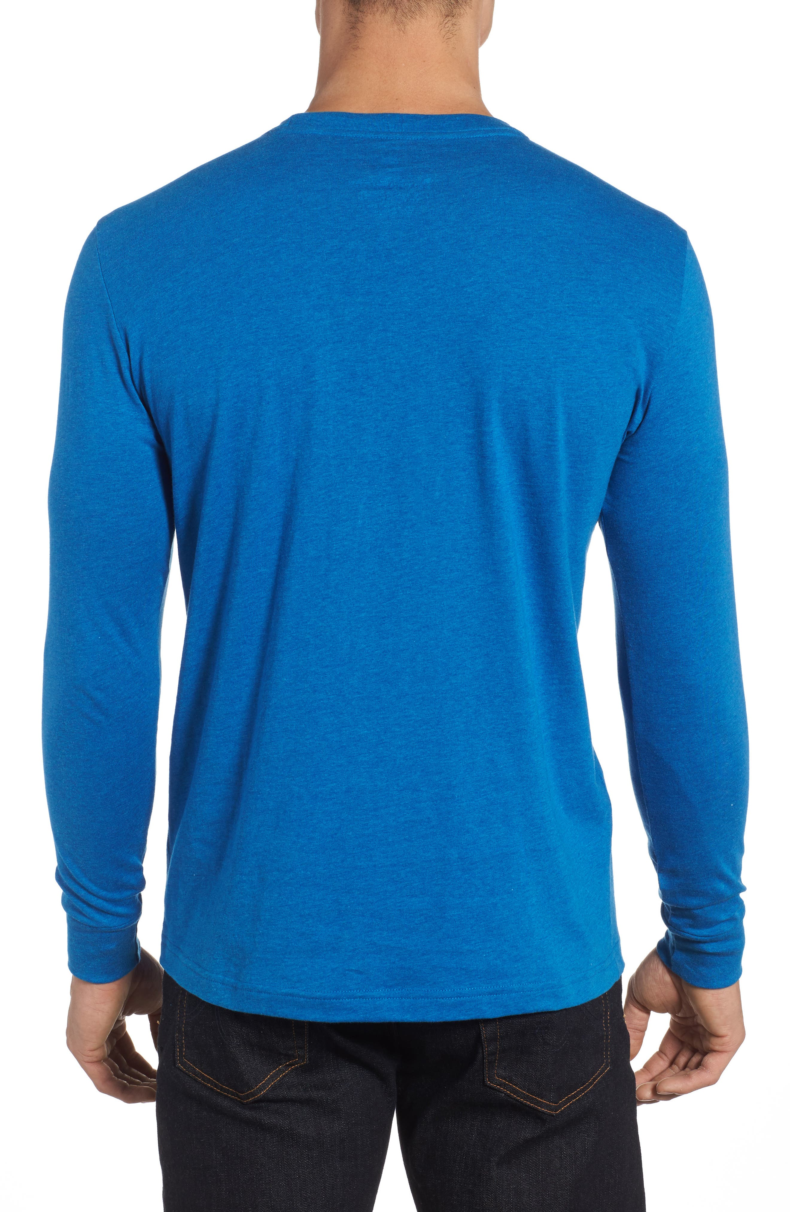 Long Sleeve T-Shirt,                             Alternate thumbnail 2, color,                             Heather Cobalt