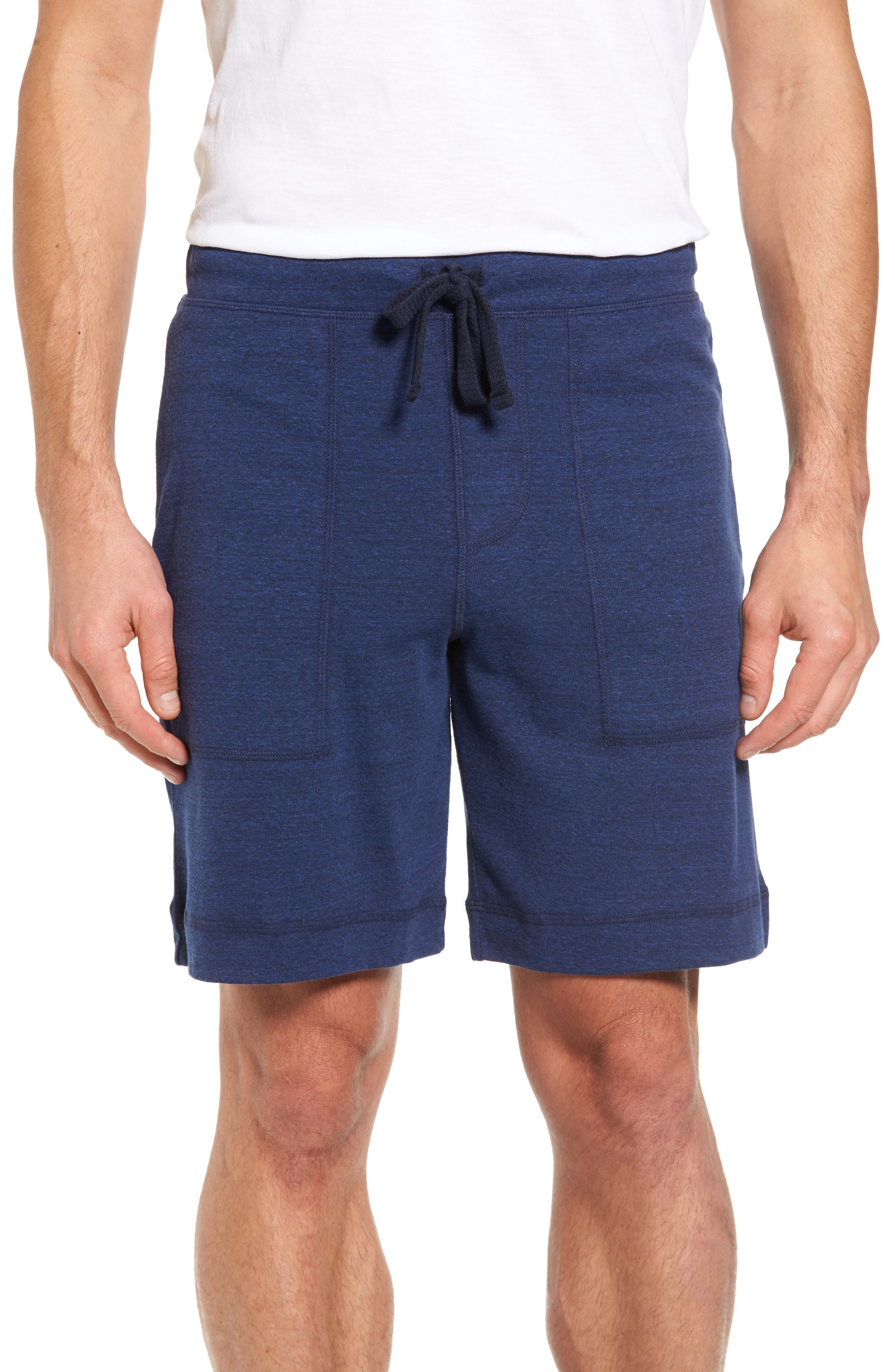 Revival Relaxed Knit Shorts,                         Main,                         color, Navy Triblend