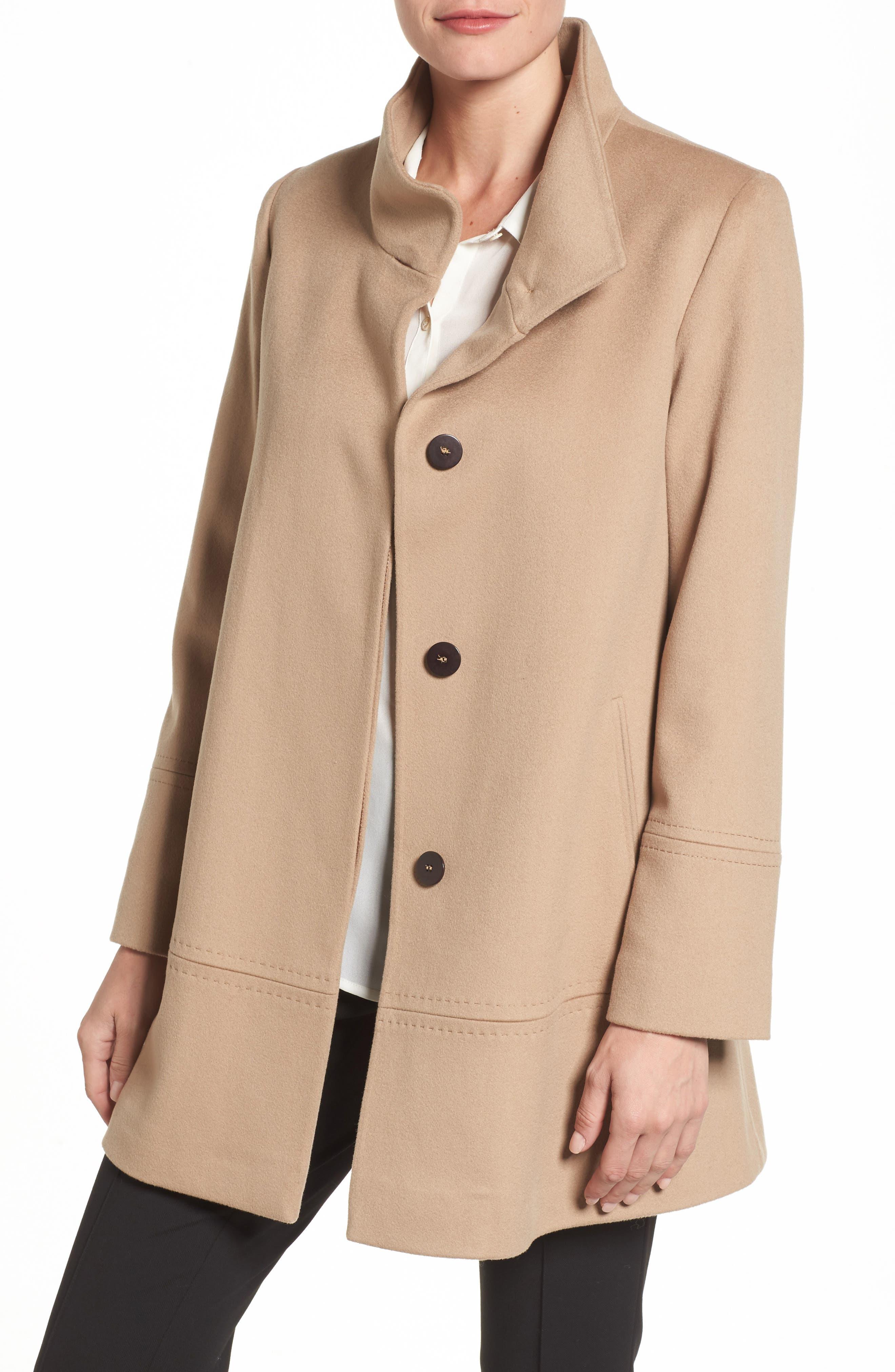 Main Image - Fleurette Loro Piana Wool Car Coat (Regular & Petite) (Nordstrom Exclusive)