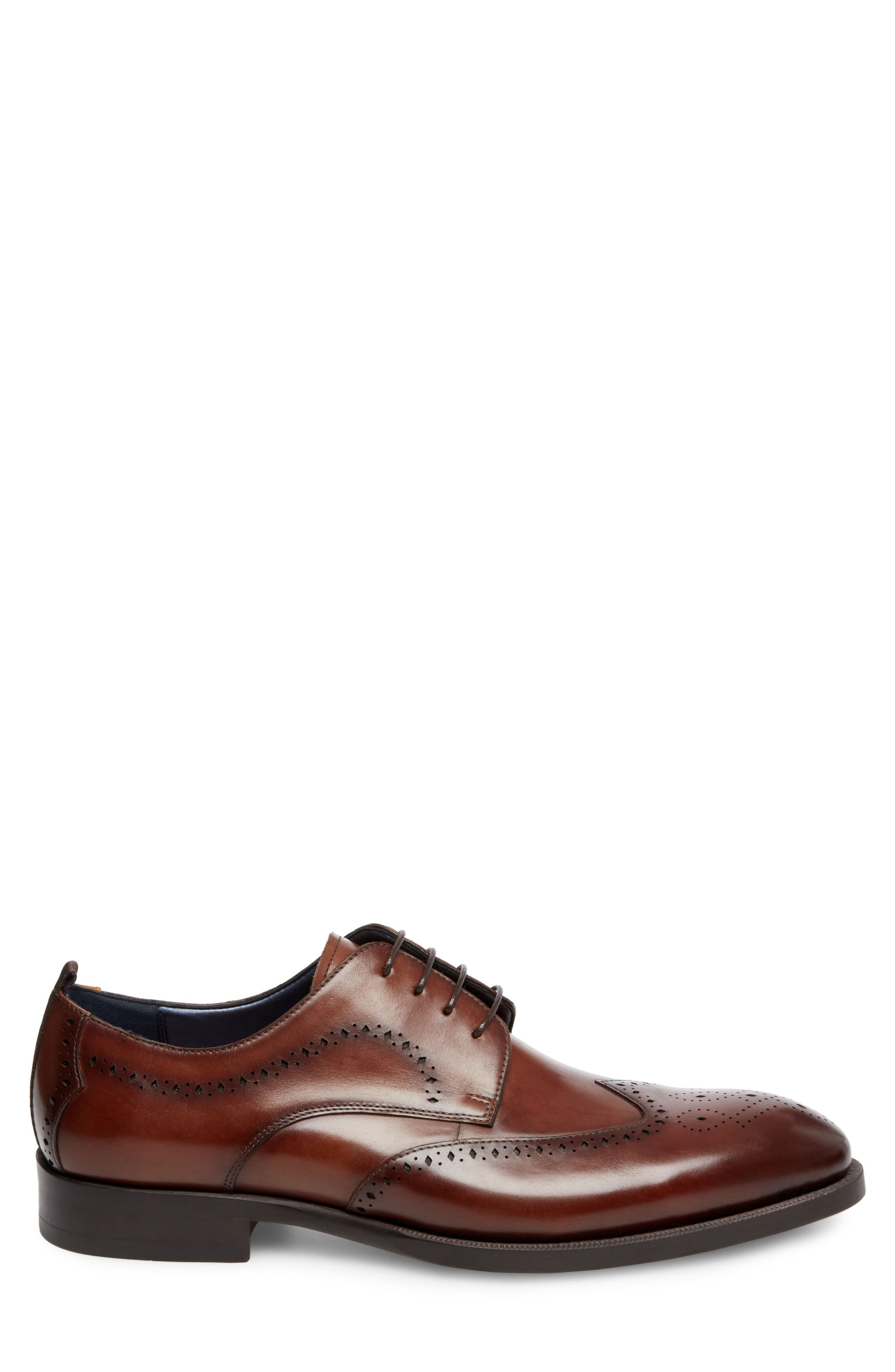 Candyd Wingtip,                             Alternate thumbnail 3, color,                             Brown Leather
