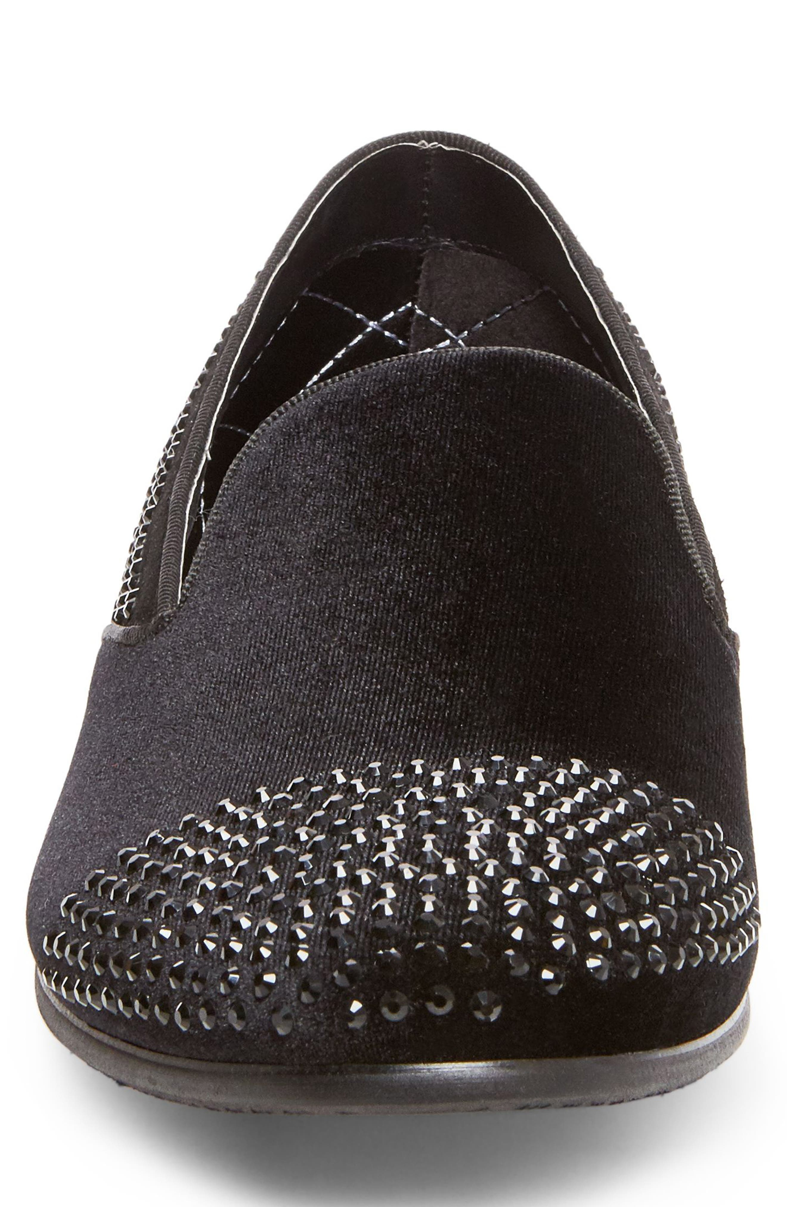 Clarity Loafer,                             Alternate thumbnail 4, color,                             Black Fabric