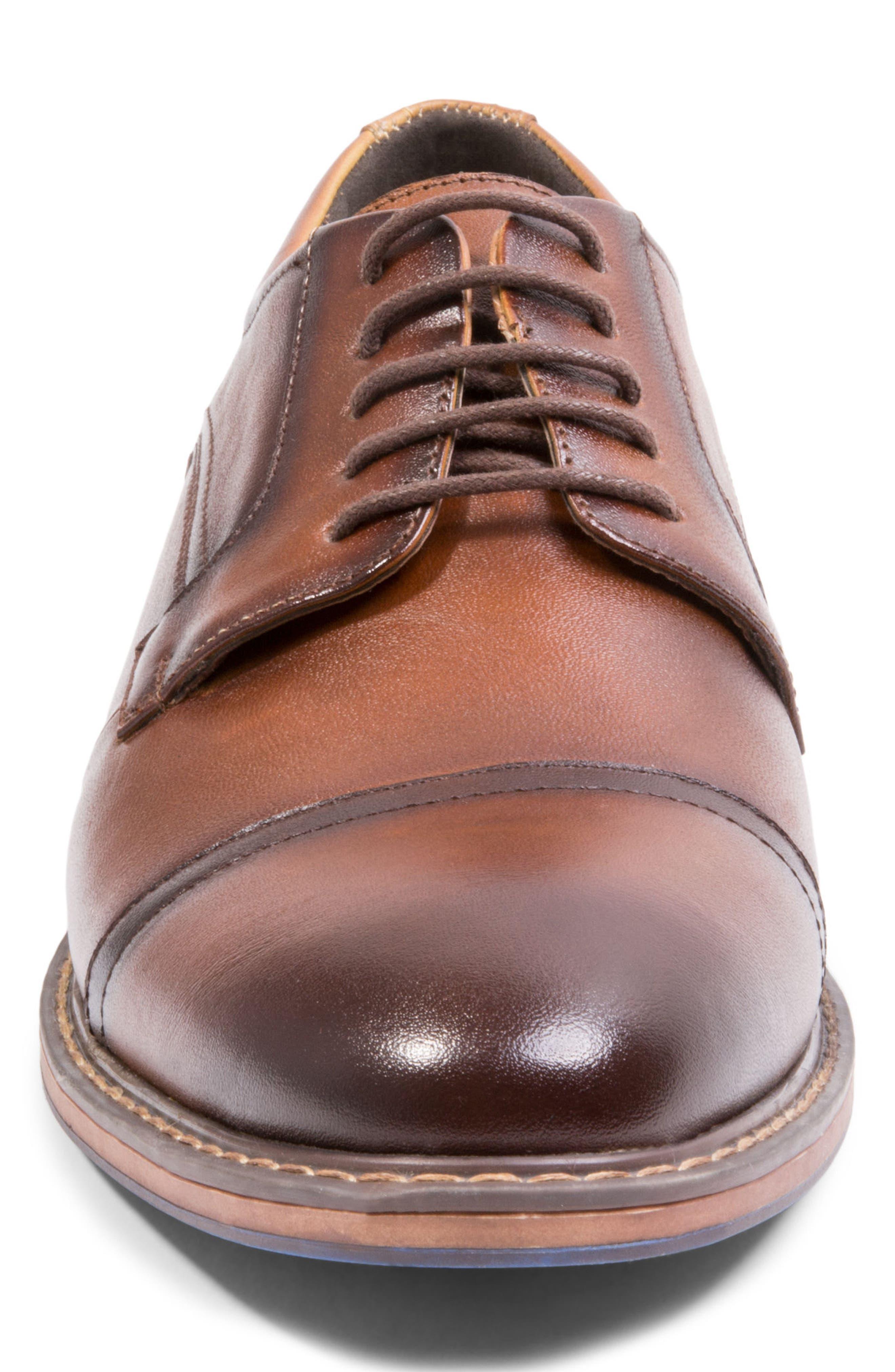 Averie Cap Toe Derby,                             Alternate thumbnail 4, color,                             Tan Leather