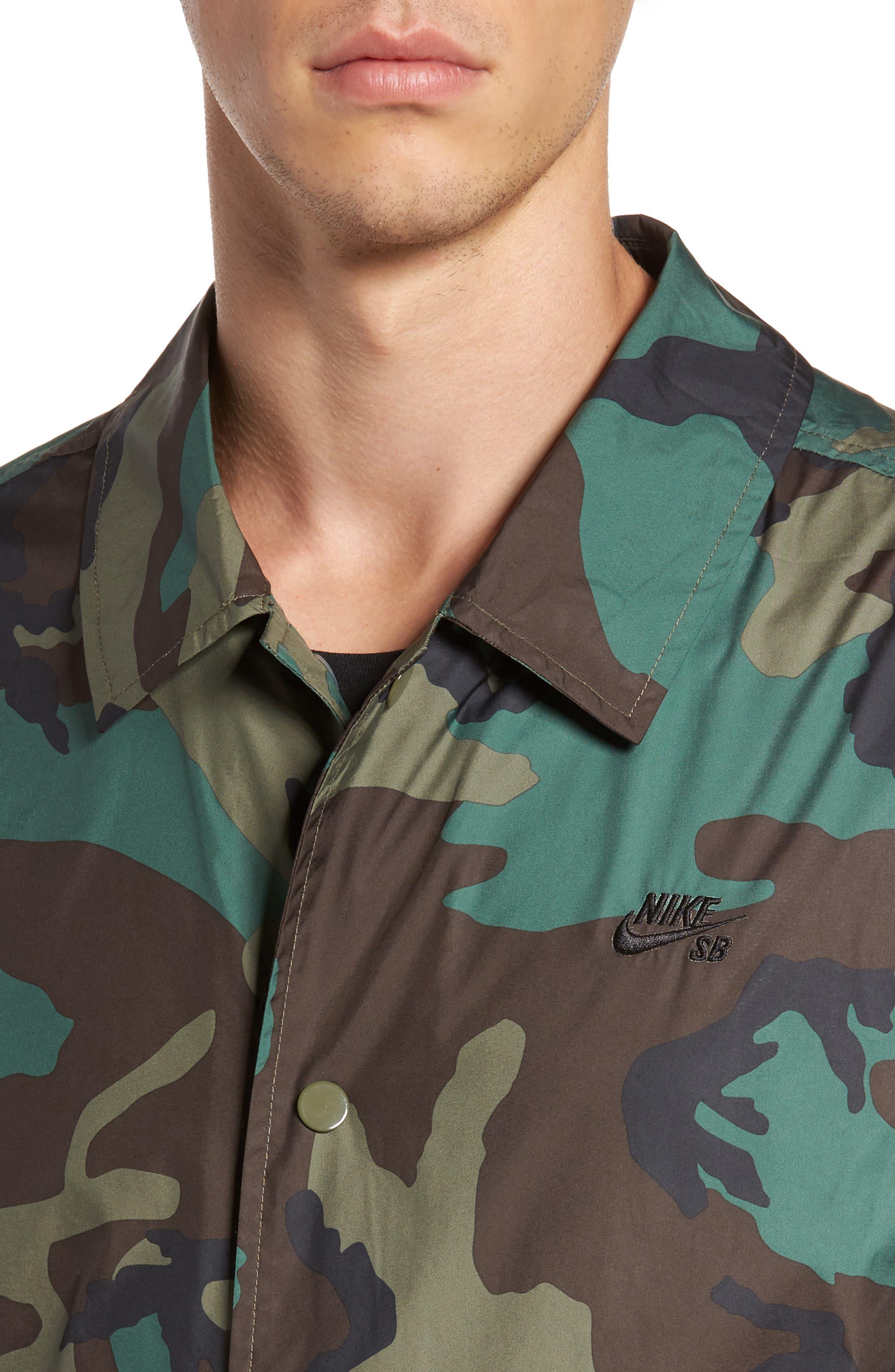 Shield Coach's Jacket,                             Alternate thumbnail 4, color,                             Medium Olive/ Black