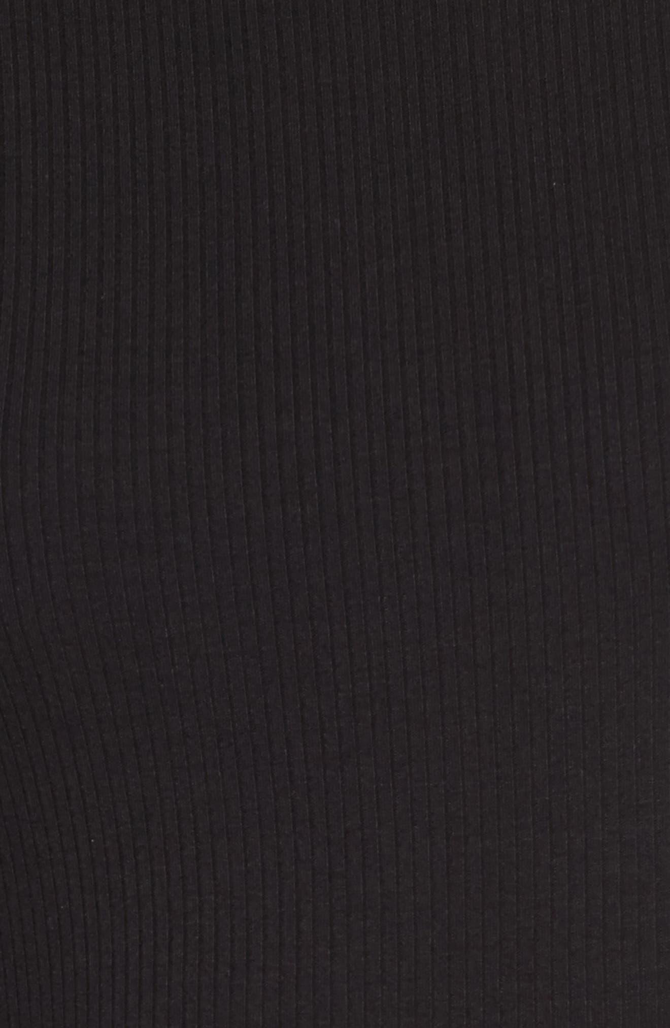 Alternate Image 5  - One Clothing Ruffle Sleeve Ribbed Midi Dress