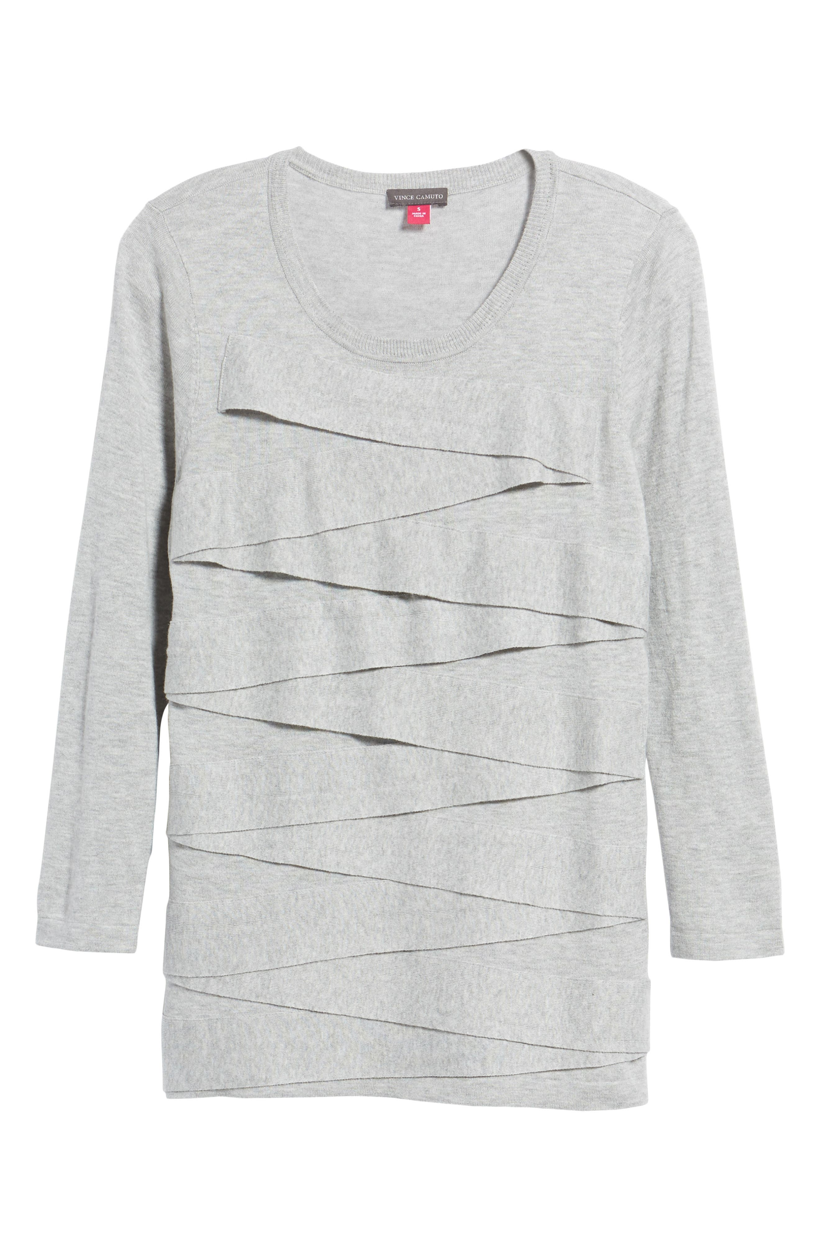 Zigzag Sweater,                             Alternate thumbnail 6, color,                             Grey Heather