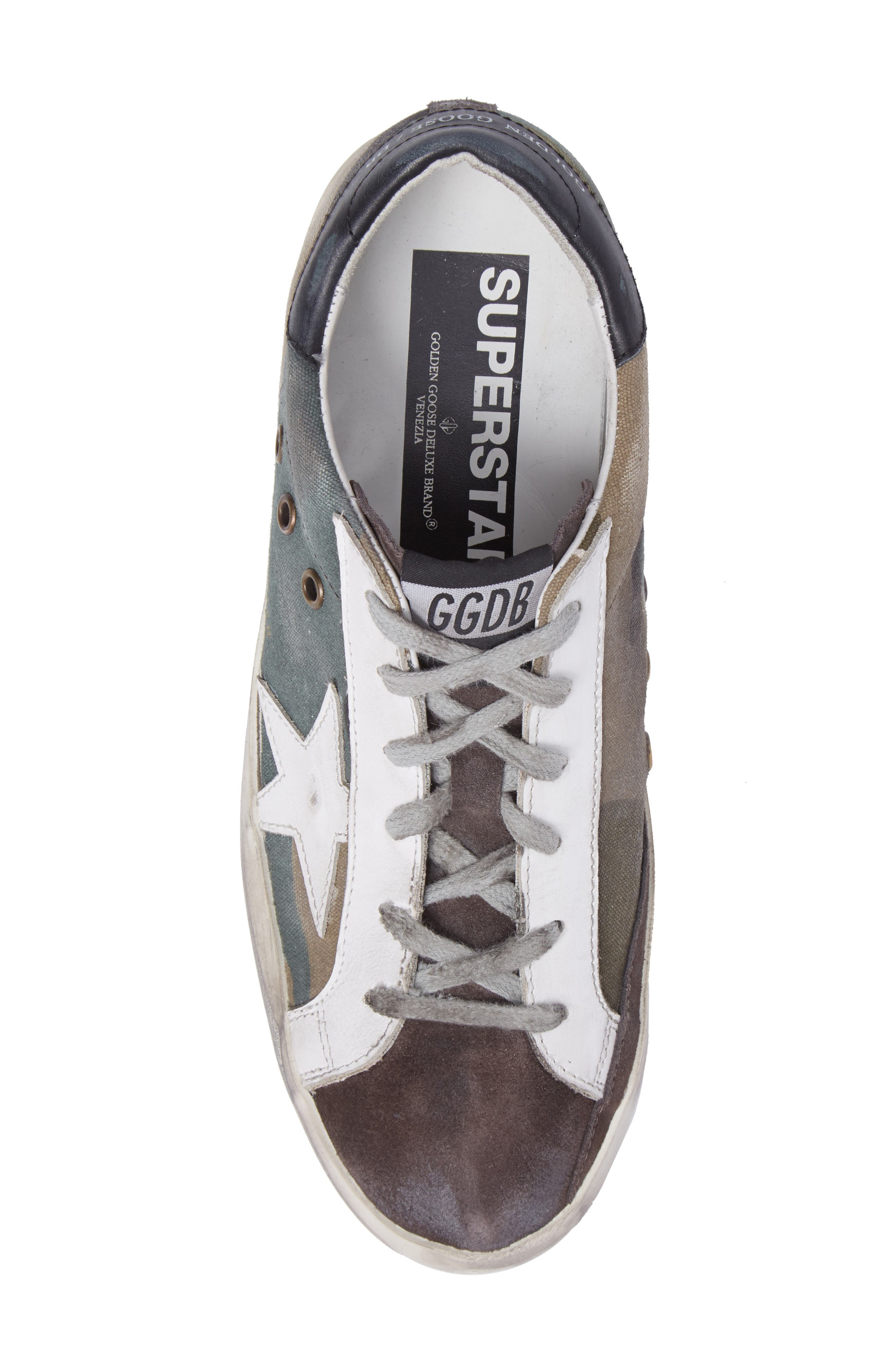 Superstar Low Top Sneaker,                             Alternate thumbnail 5, color,                             Camou Grey