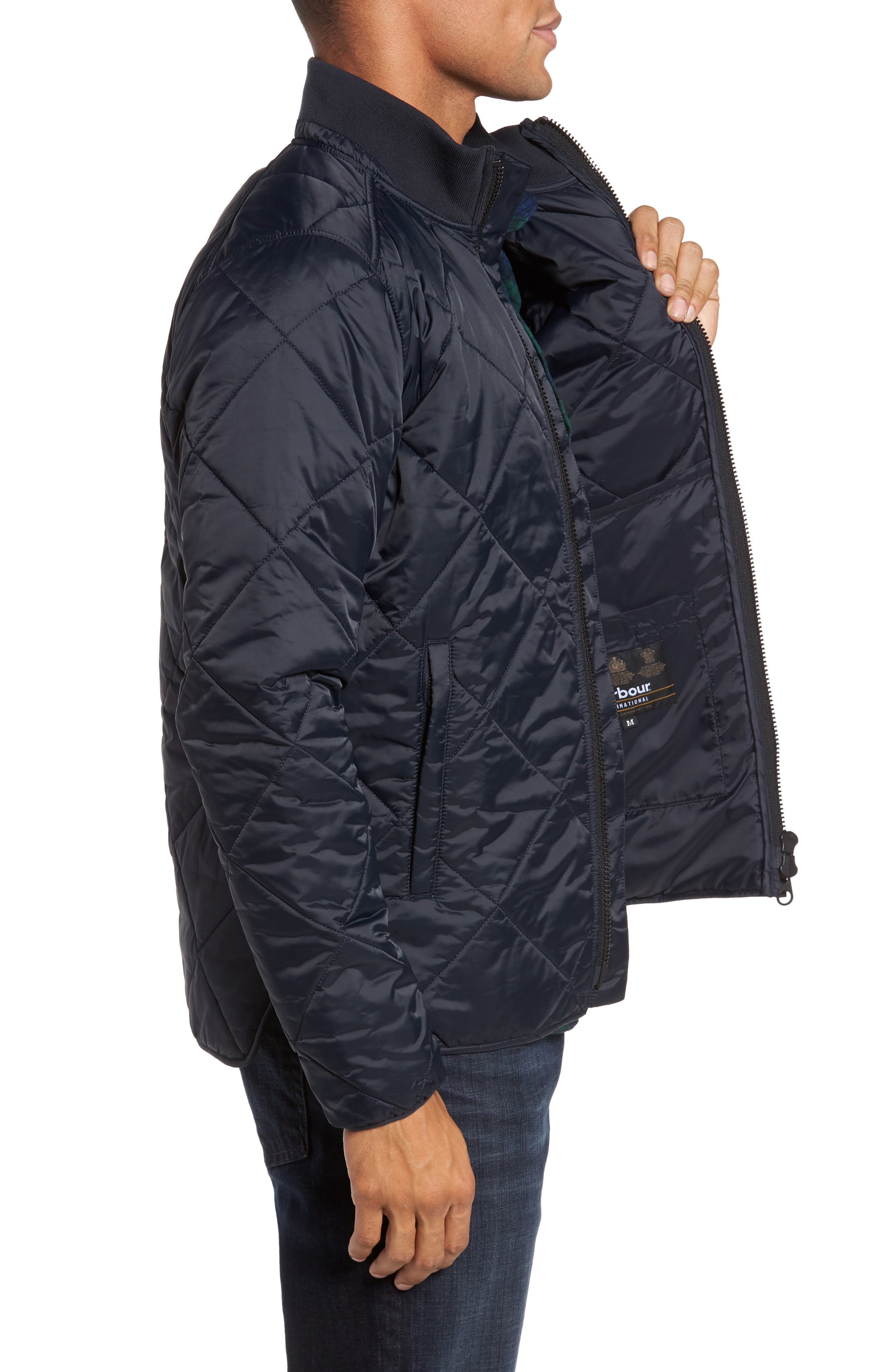 International Gabion Quilted Jacket,                             Alternate thumbnail 3, color,                             Navy