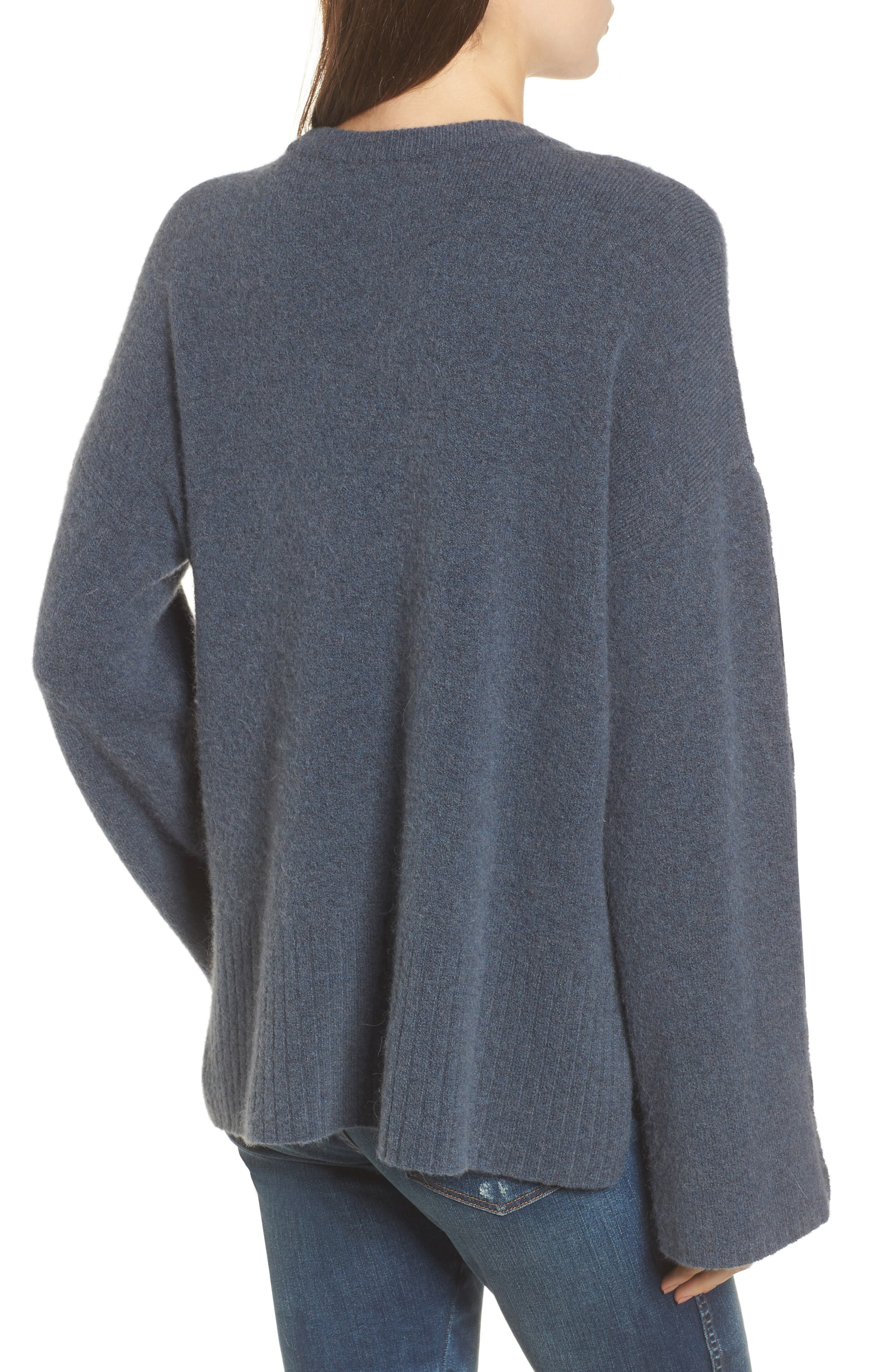 Alternate Image 2  - Madewell Button Sleeve Pullover Sweater
