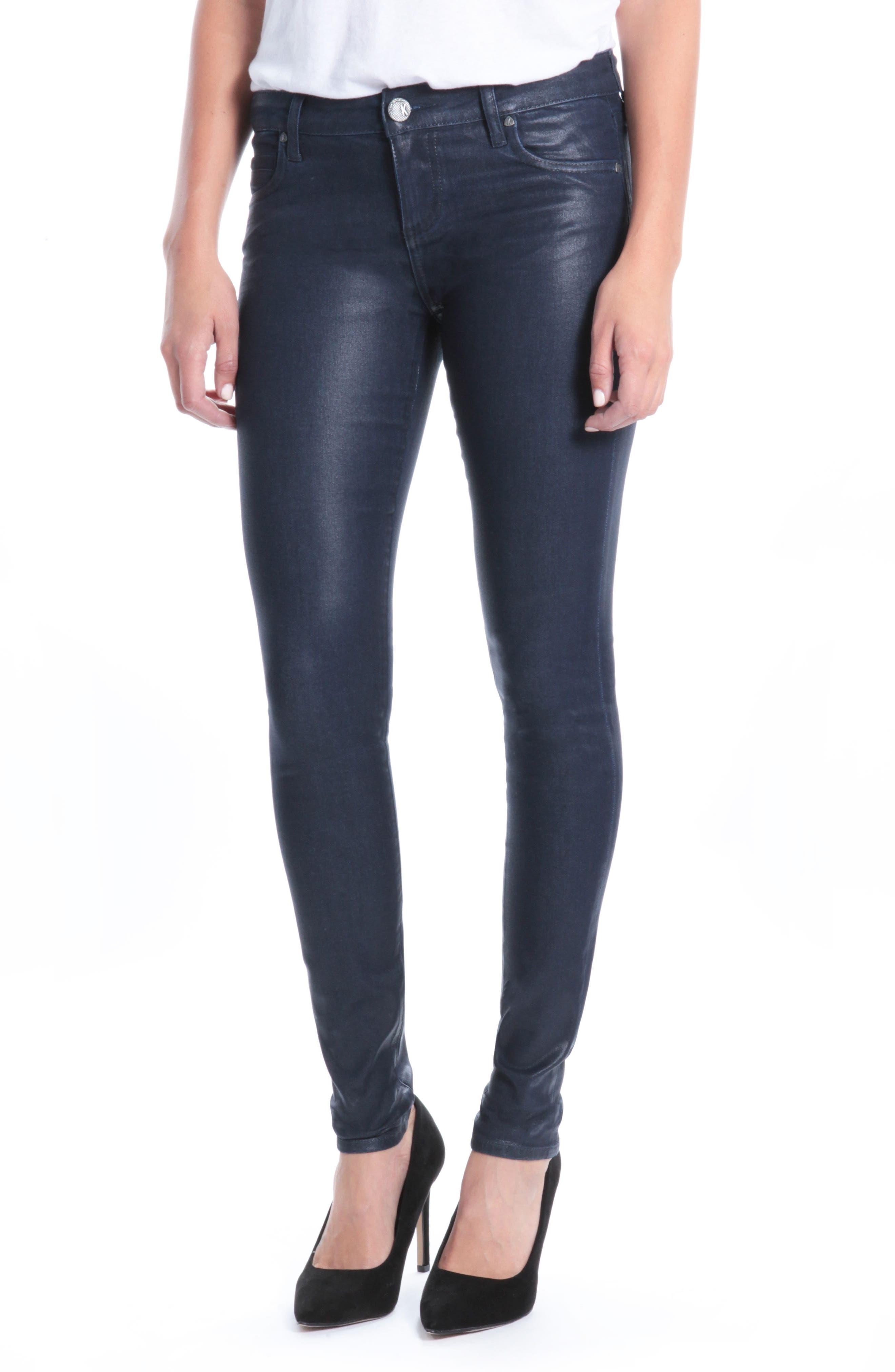 Mia Navy Coated Jeans,                         Main,                         color, Navy