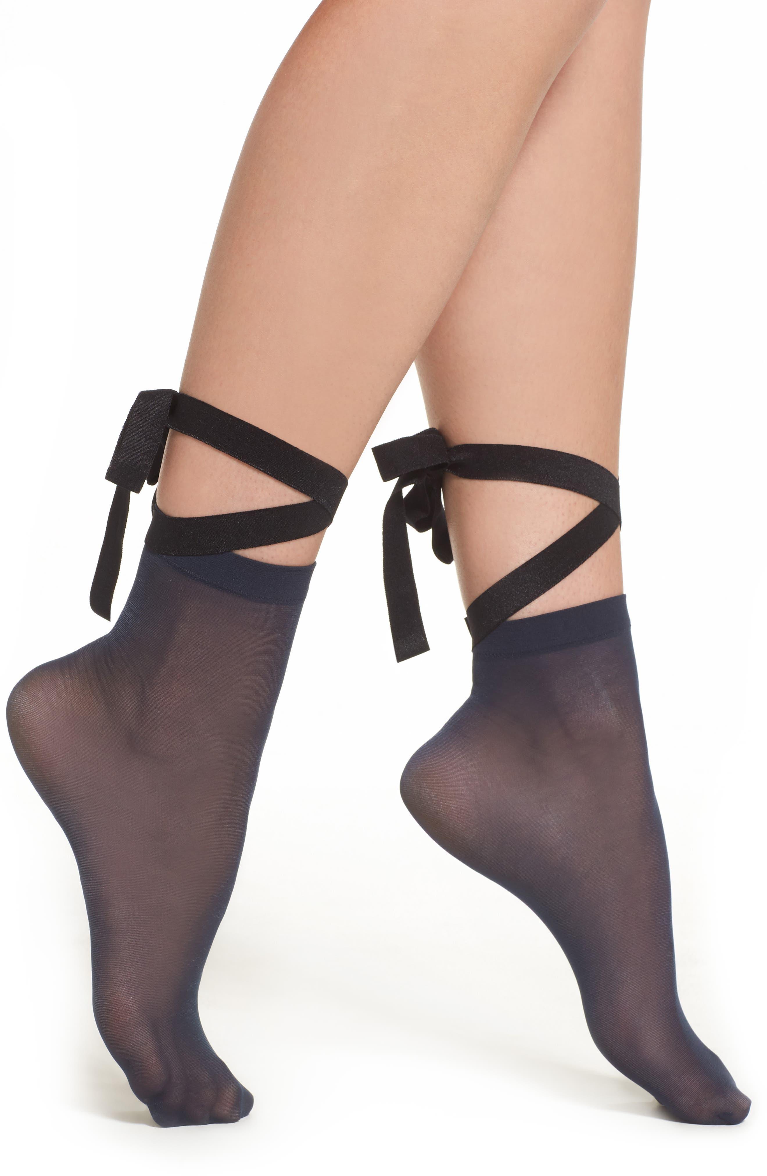 Patrizia Lace-Up Socks,                         Main,                         color, Dark Blue