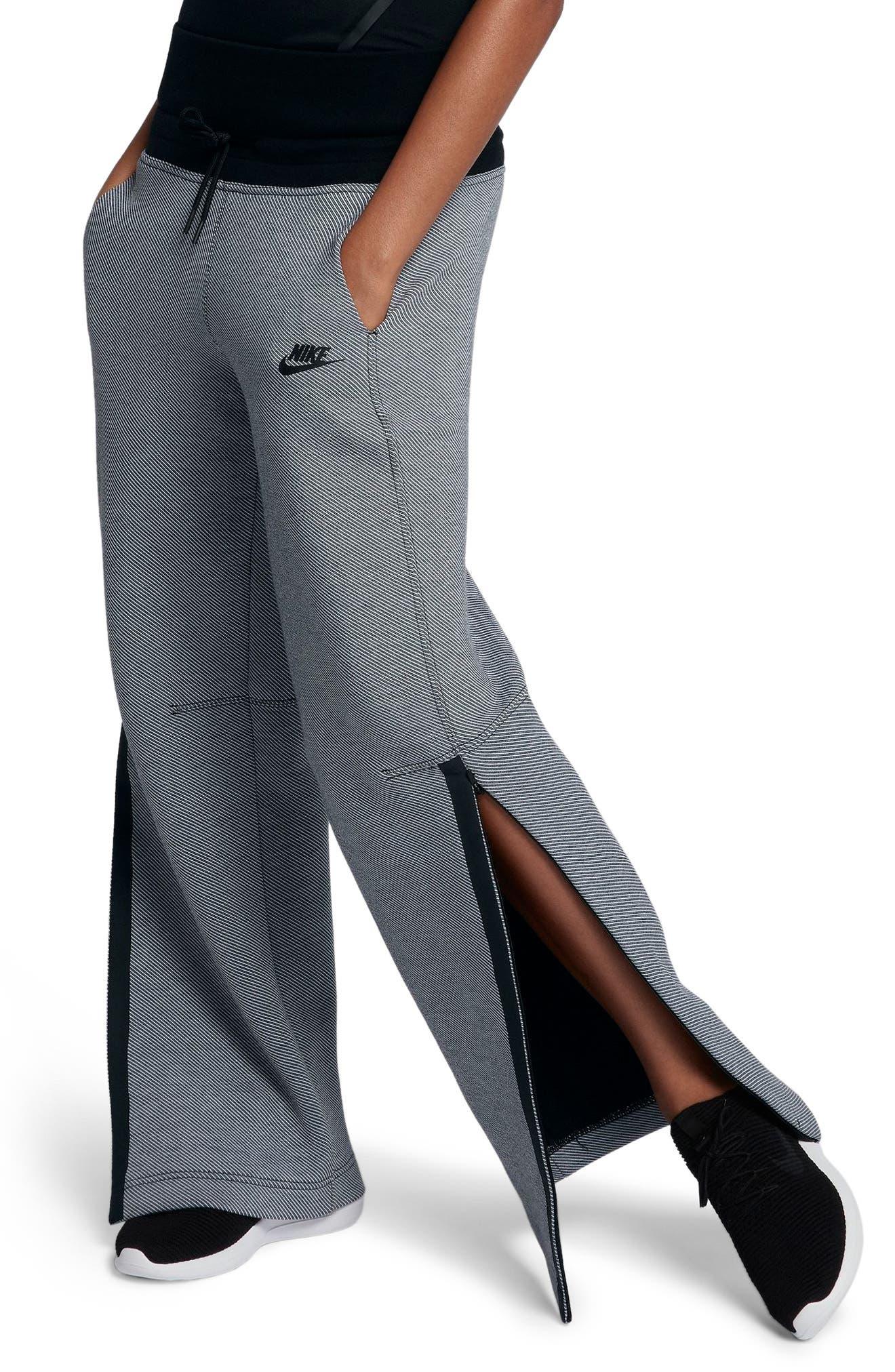 Drawstring Technical Pants,                         Main,                         color, Black/ Black