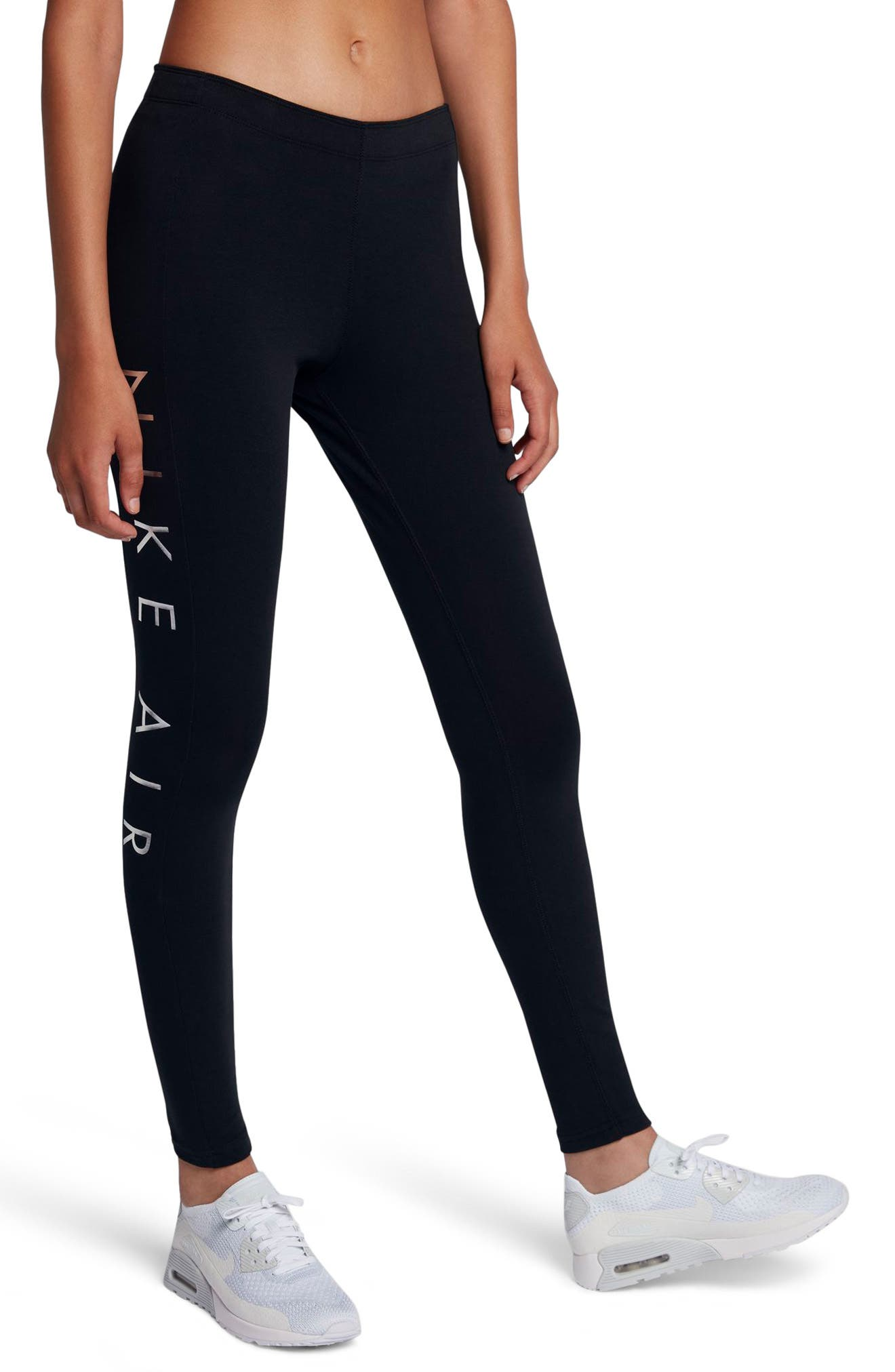 Women's NSW Air Leggings,                         Main,                         color, Black/ Black