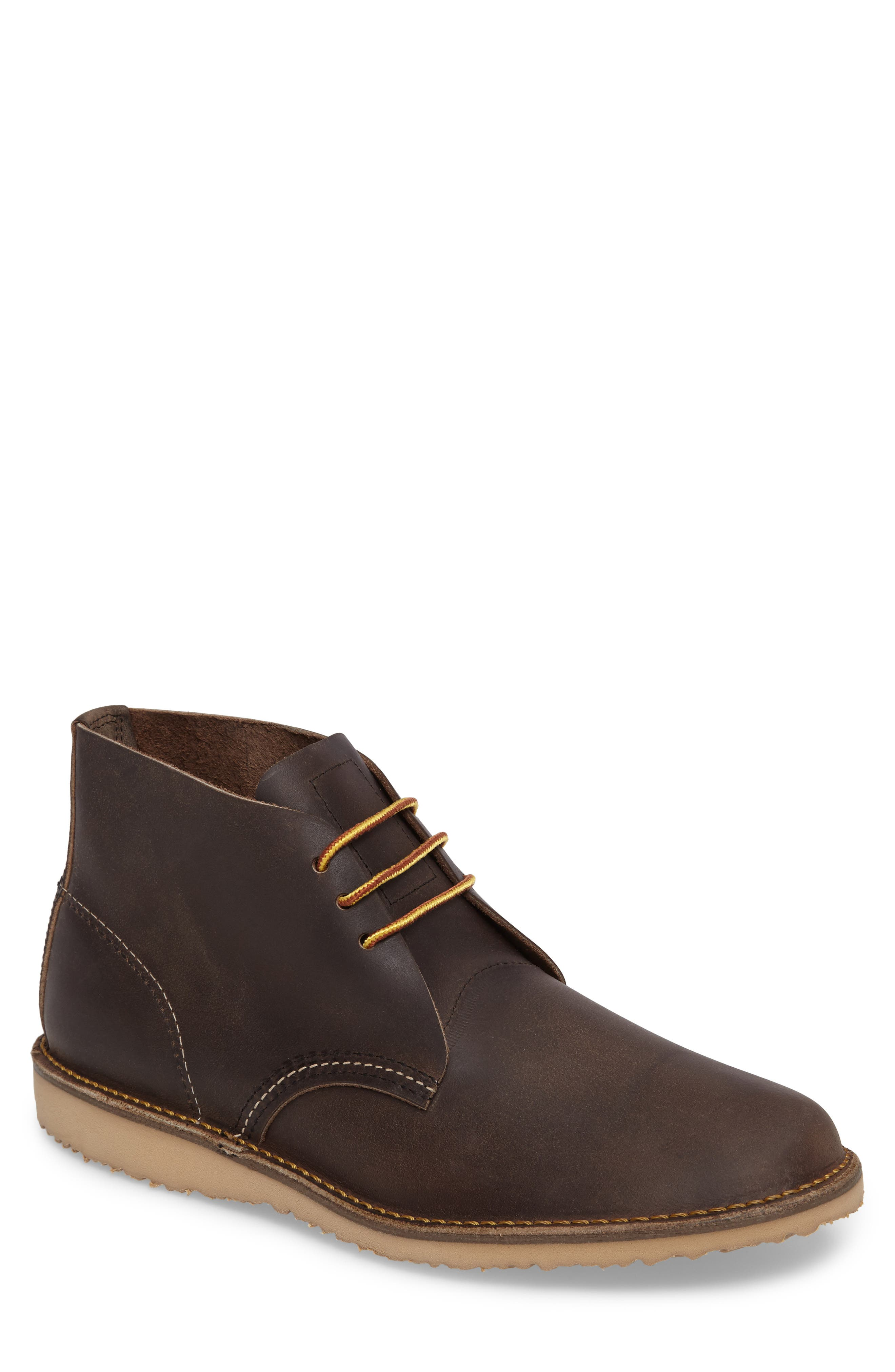 Chukka Boot,                             Main thumbnail 1, color,                             Concrete Leather
