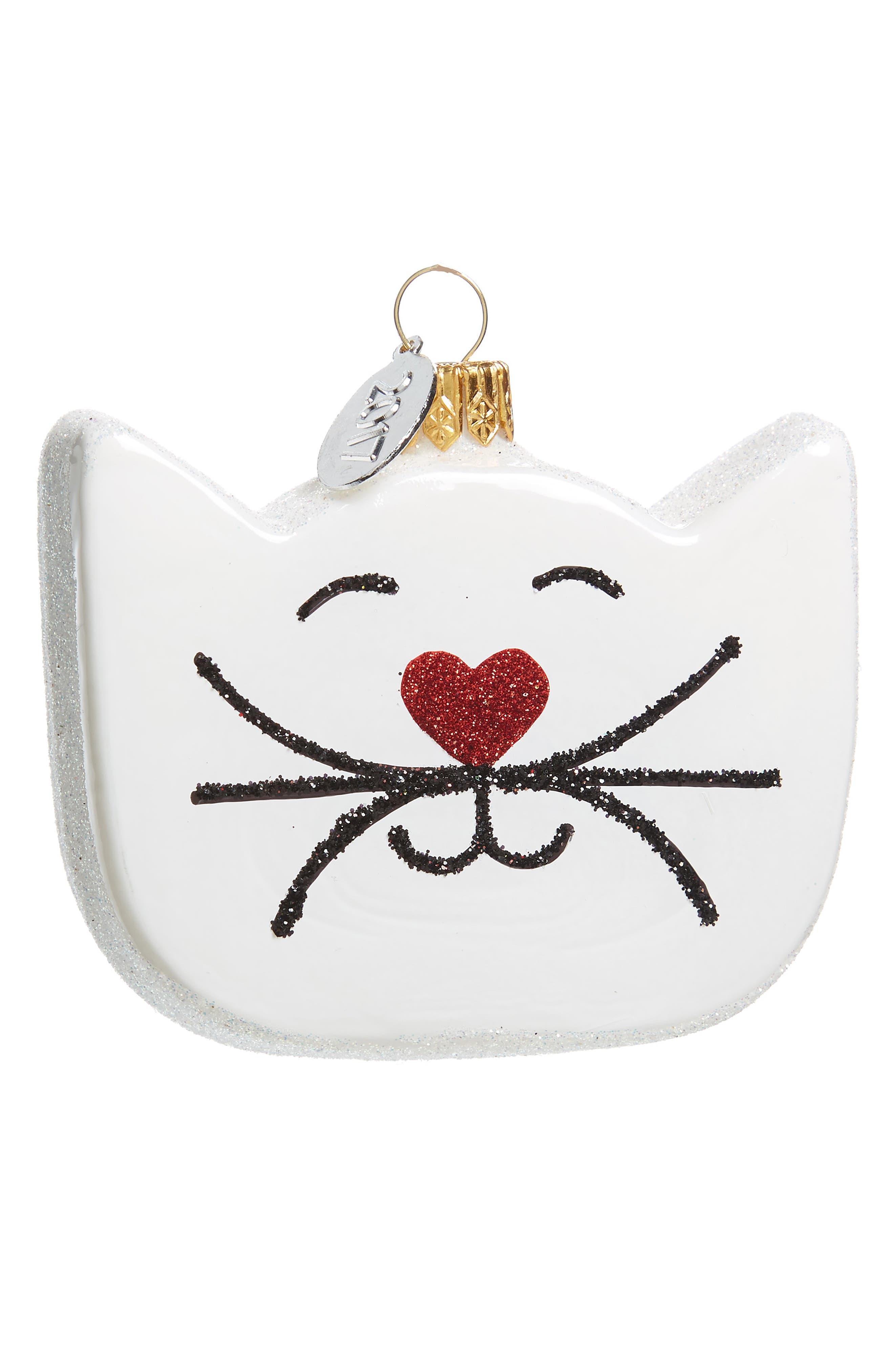 Nordstrom at Home Cat Glass Ornament