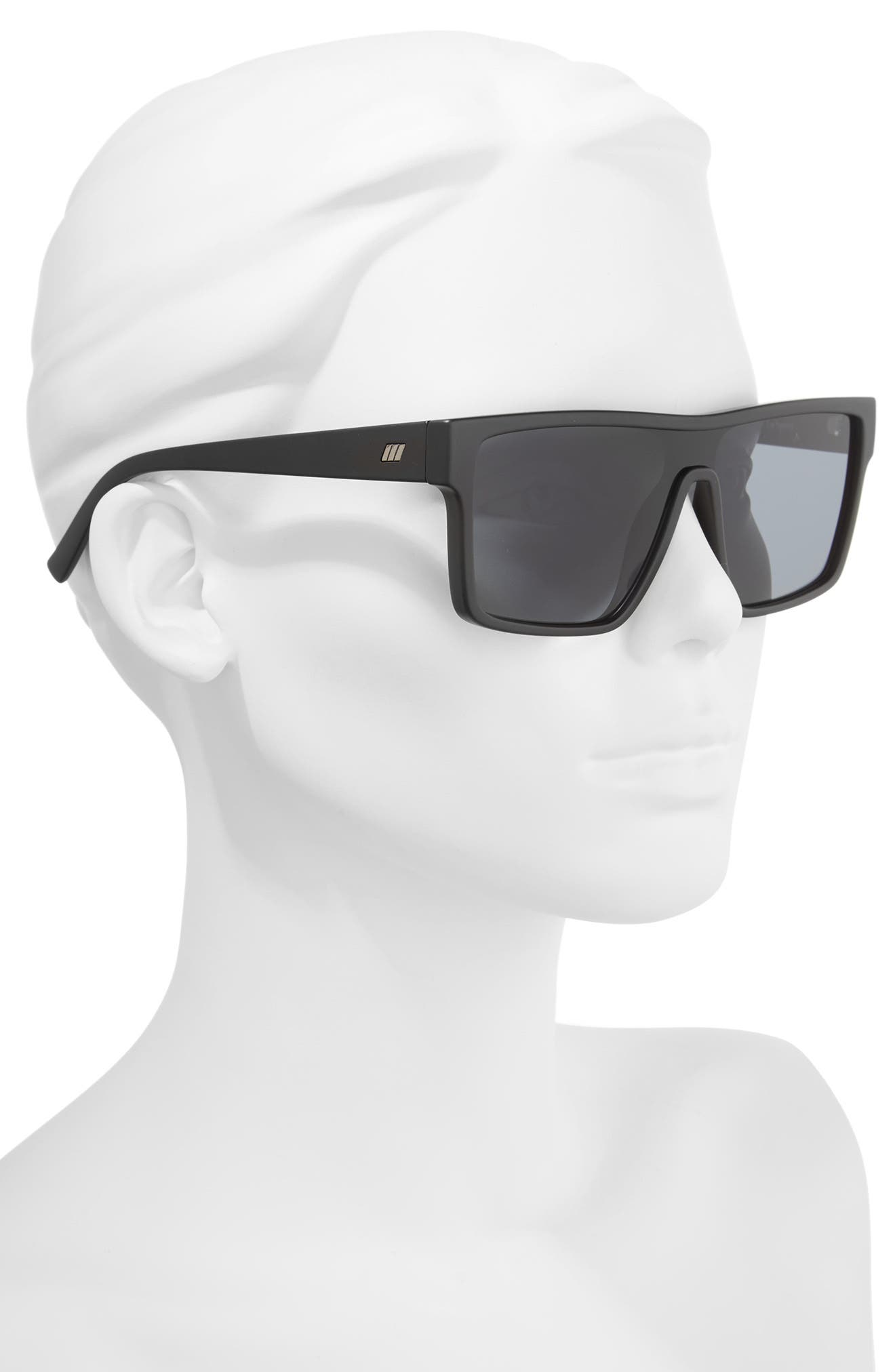 Minimal Magic 54mm Mirror Sunglasses,                             Alternate thumbnail 2, color,                             Matte Black