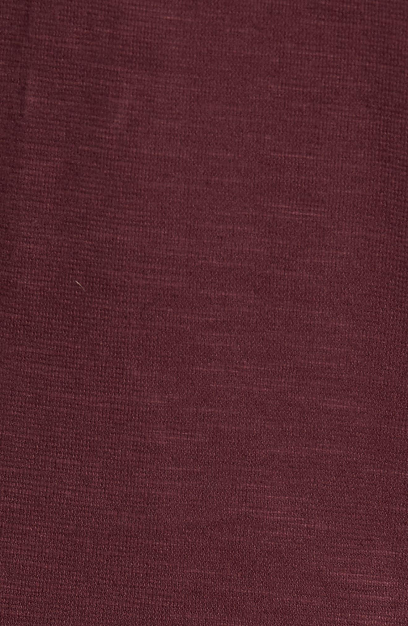 Slim Fit Pullover Hoodie,                             Alternate thumbnail 5, color,                             Wine