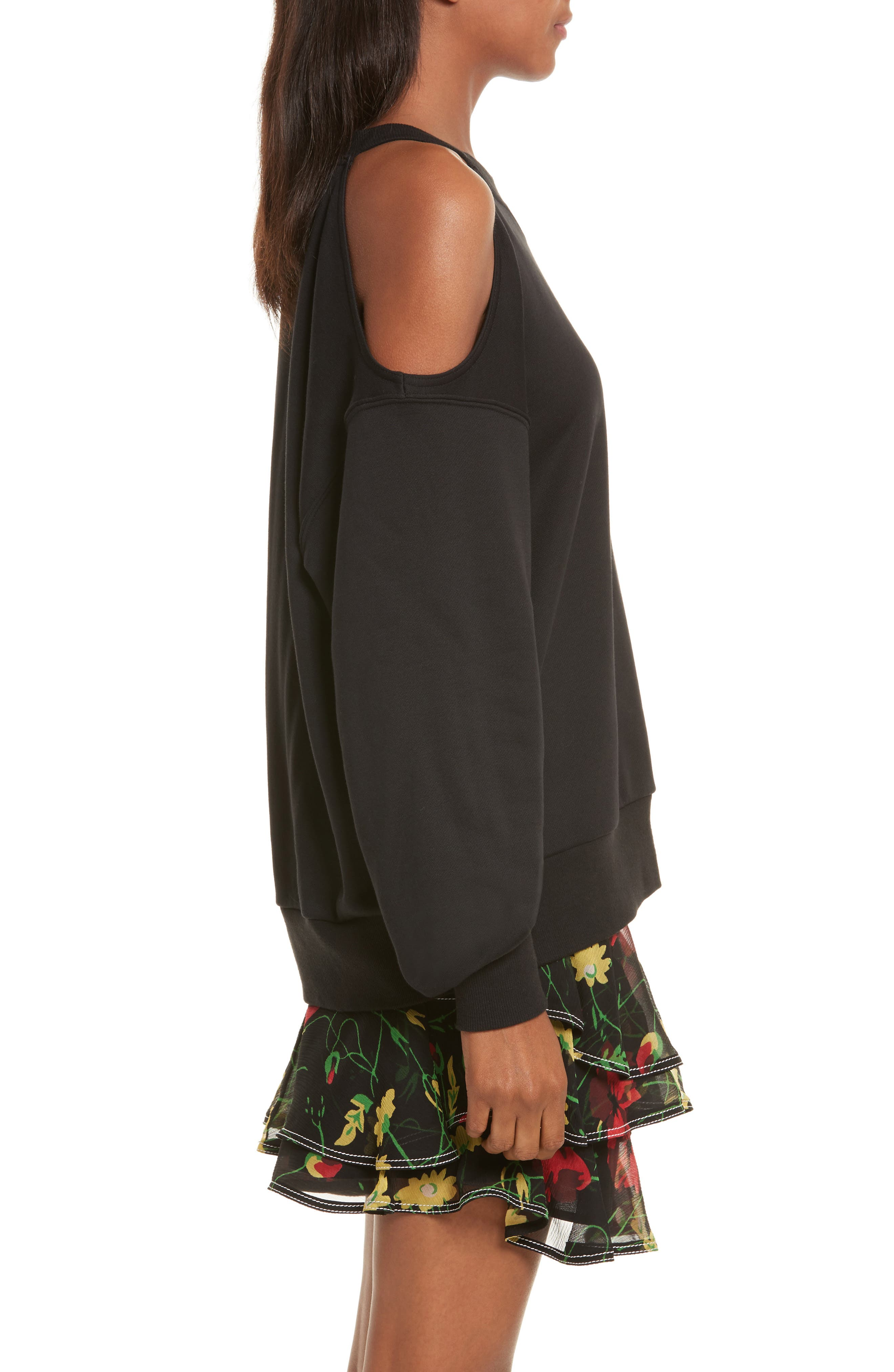 Alternate Image 4  - GREY Jason Wu Asymmetrical Cold Shoulder Sweatshirt