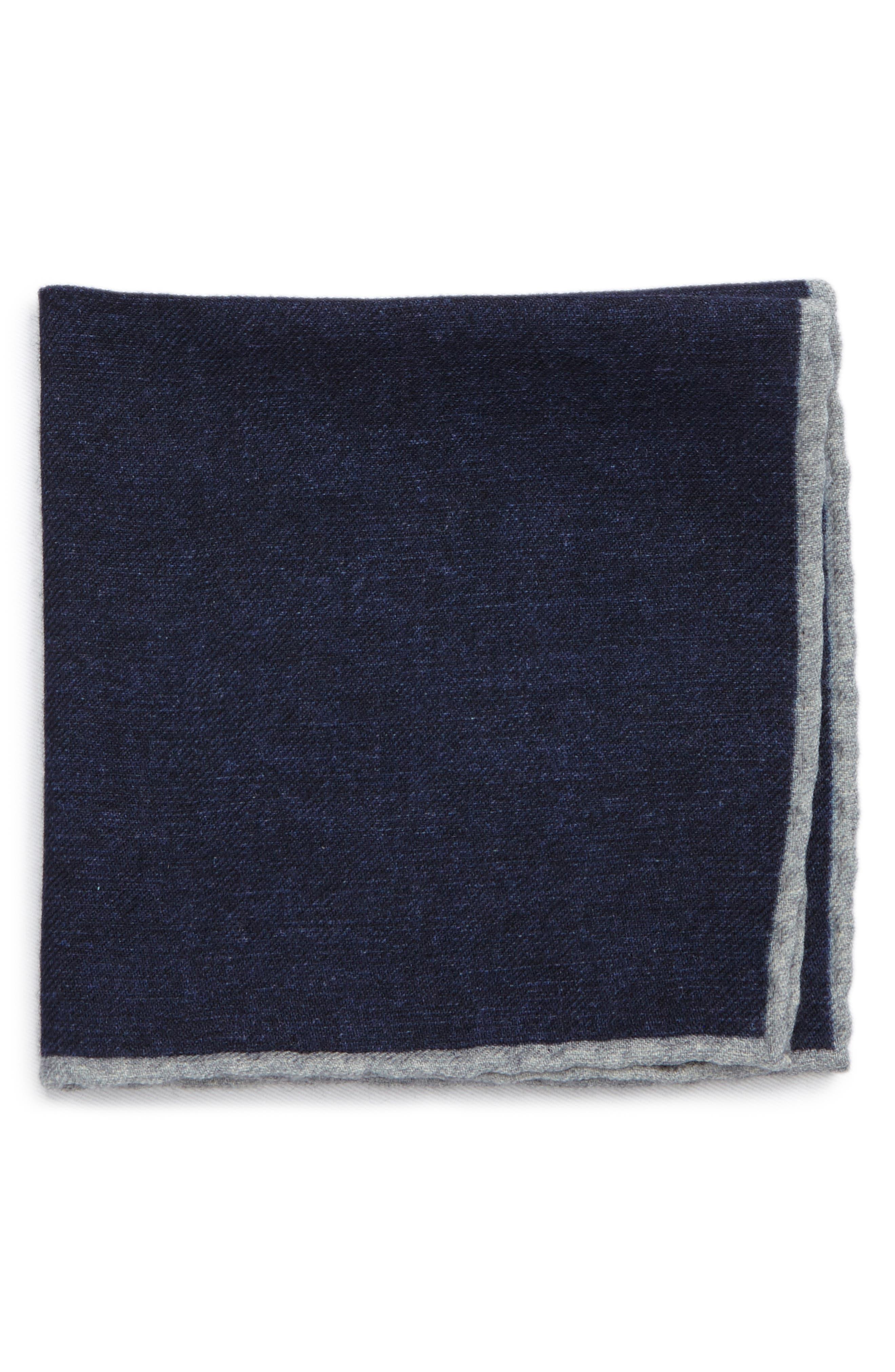 Eleventy Flannel Wool Pocket Square