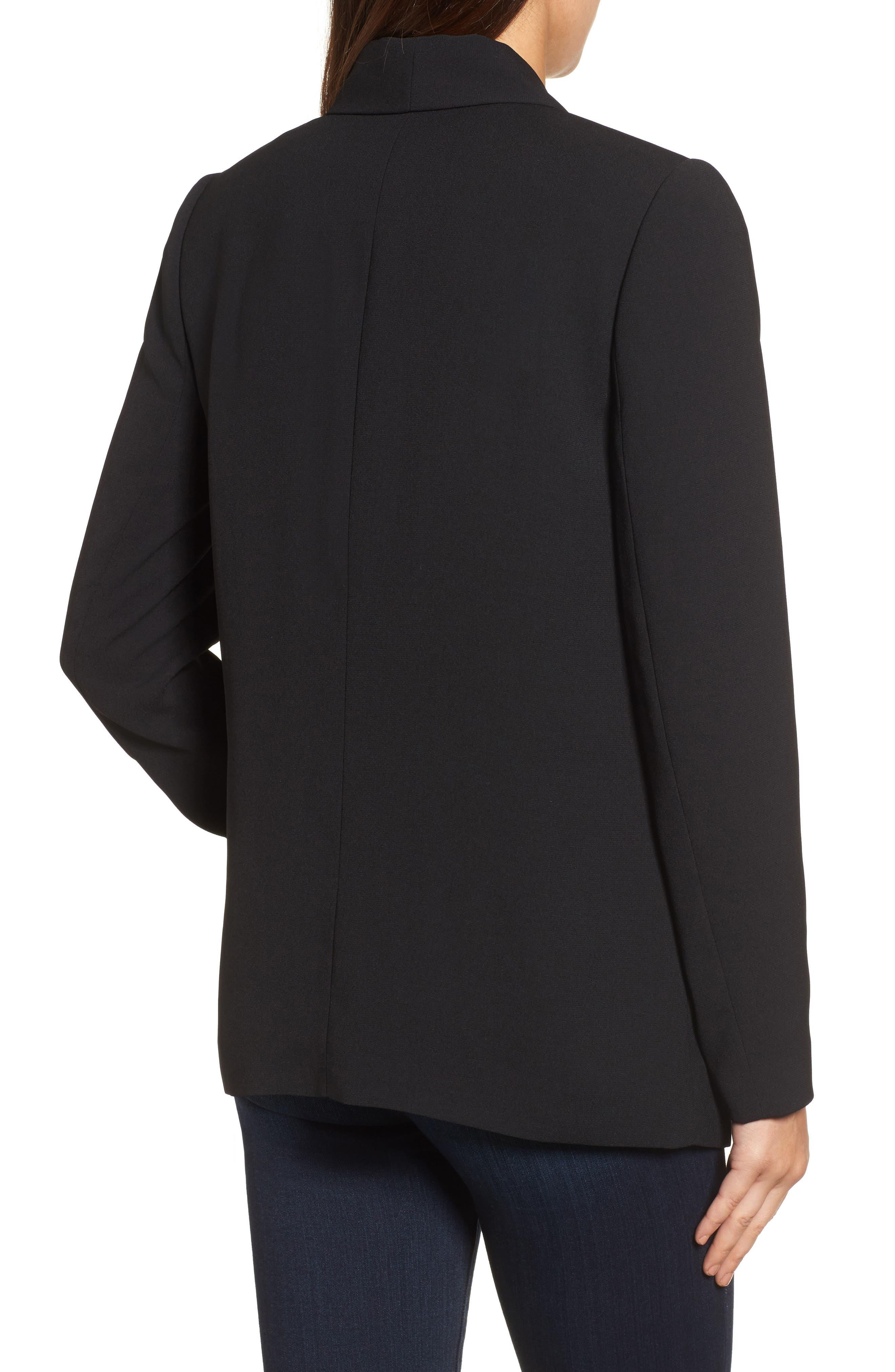 Shawl Collar Blazer,                             Alternate thumbnail 2, color,                             Black