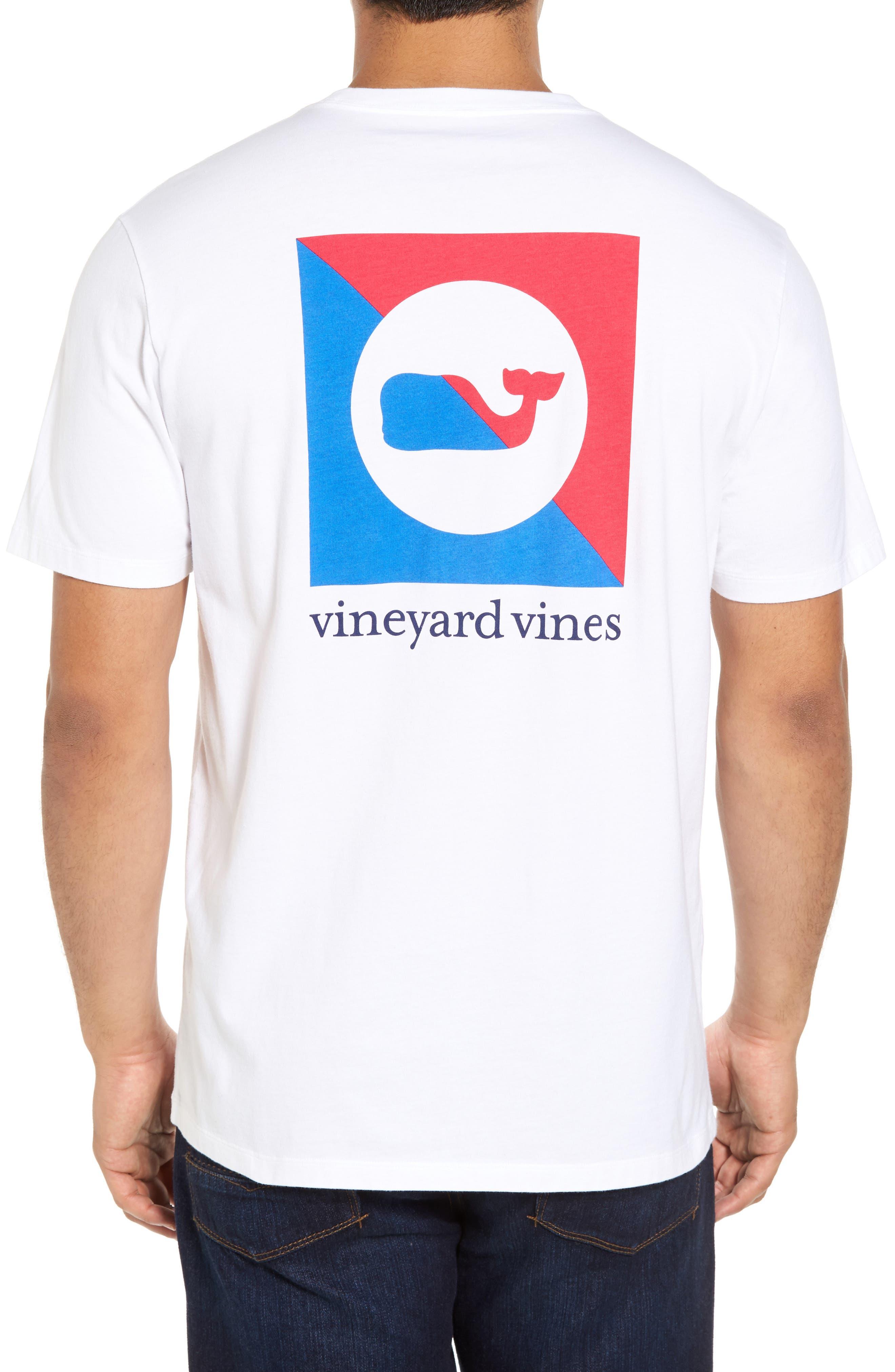Split Burgee Logo T-Shirt,                         Main,                         color, White Cap