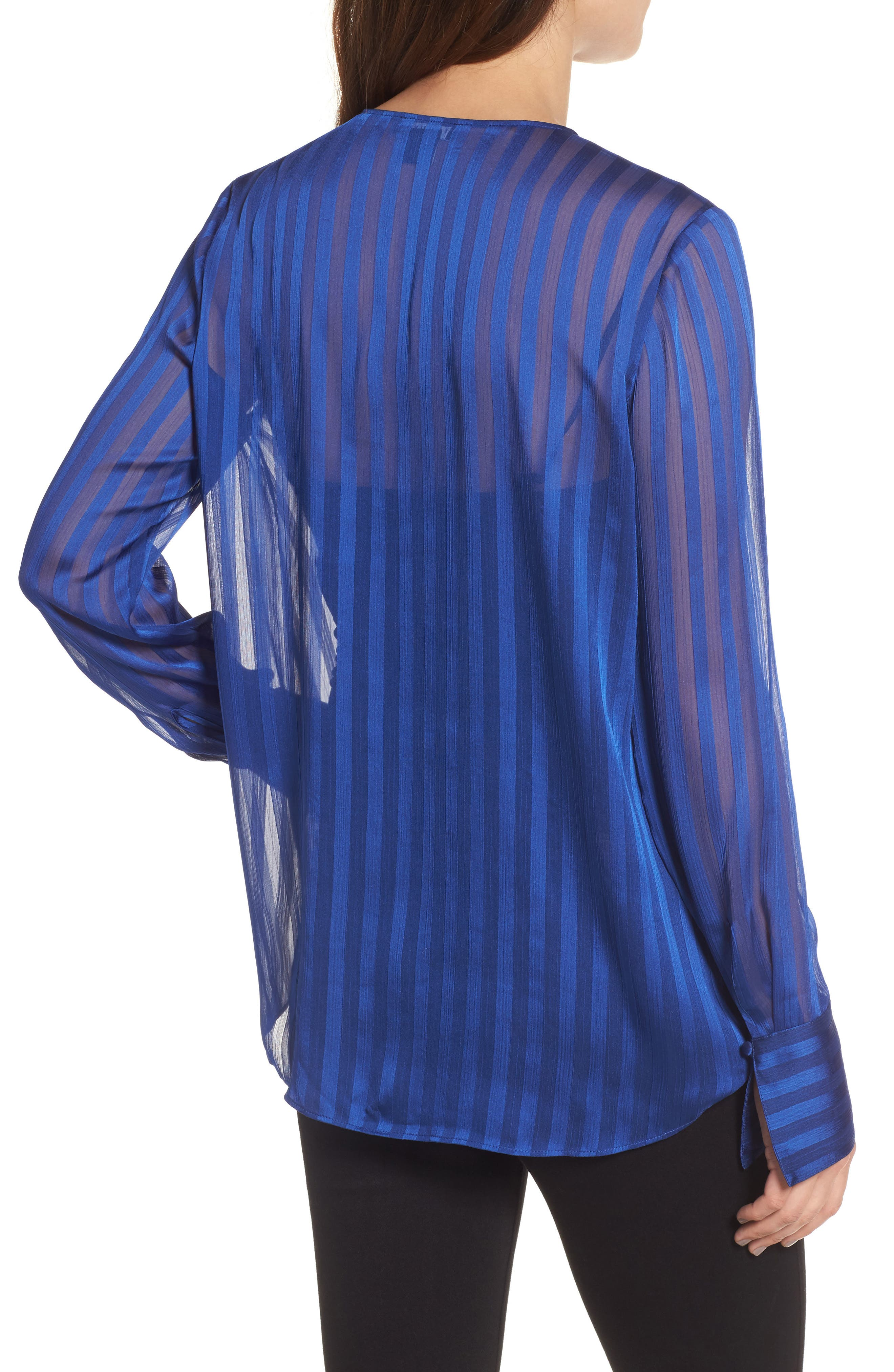 Alternate Image 2  - Trouvé Sheer Shadow Stripe Top