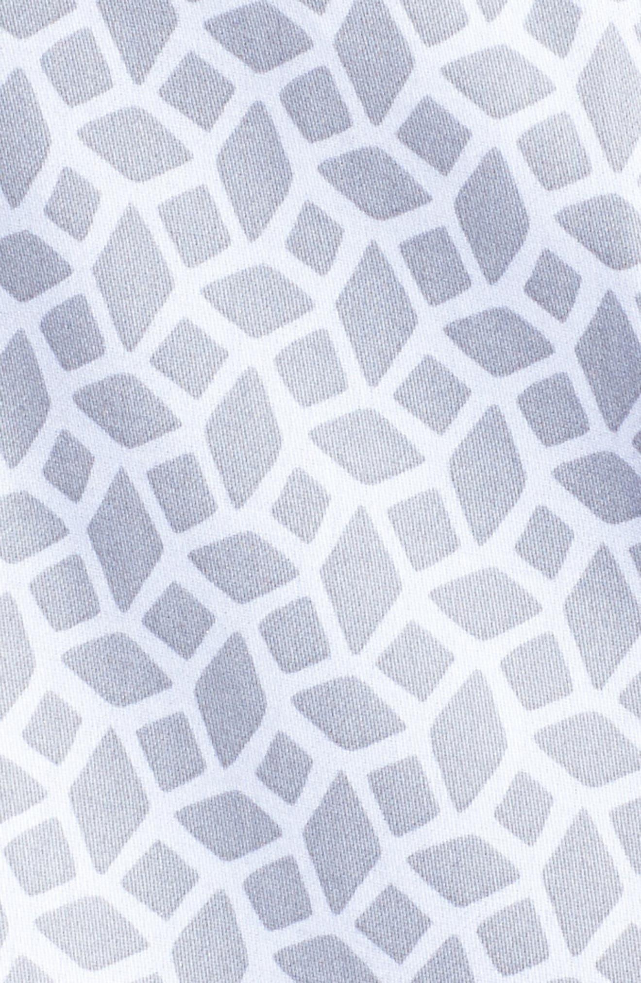 Alternate Image 5  - Foxcroft Ava Geo Print Shirt (Plus Size)