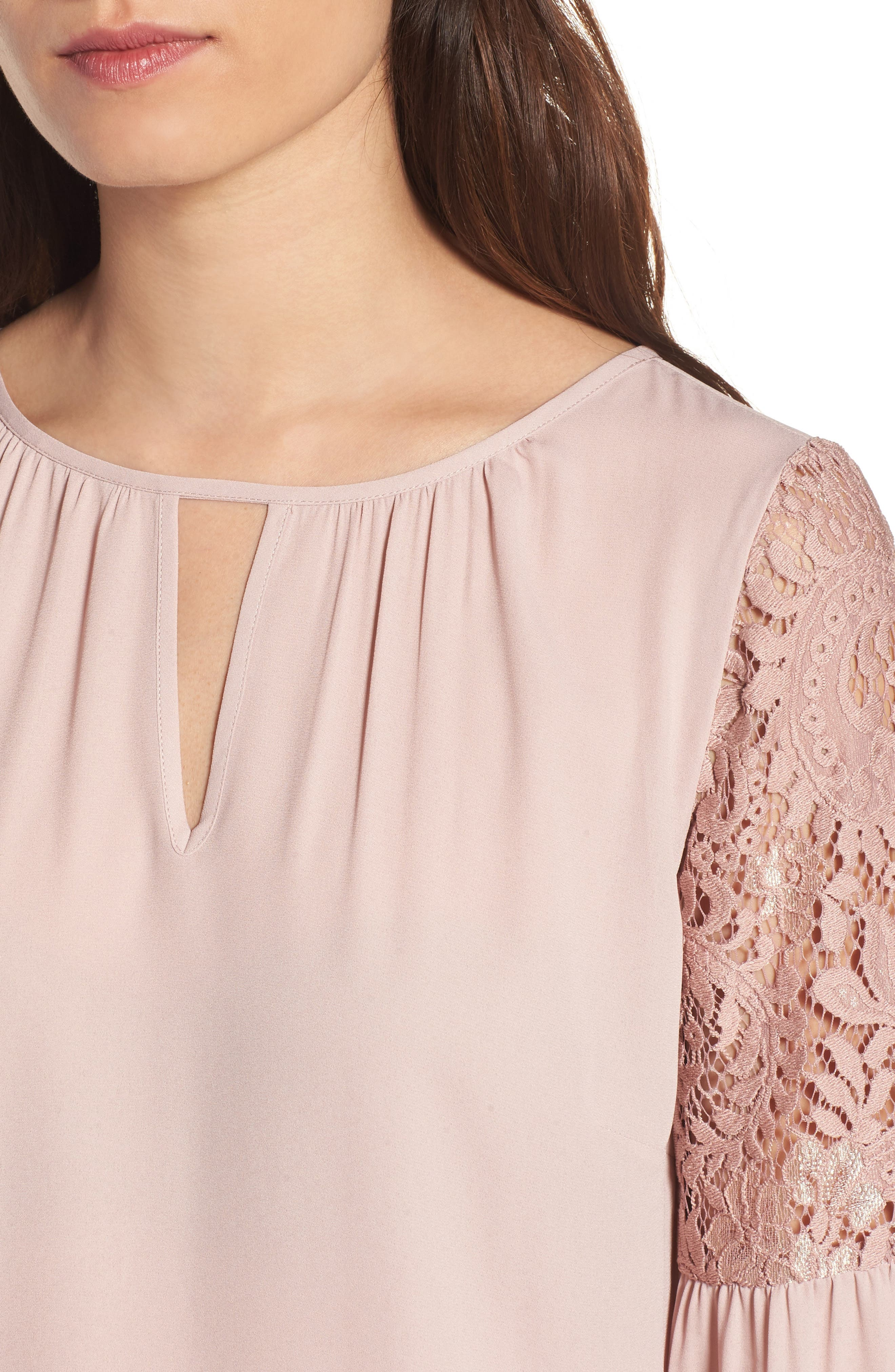 Alternate Image 4  - Chelsea28 Lace Bell Sleeve Top